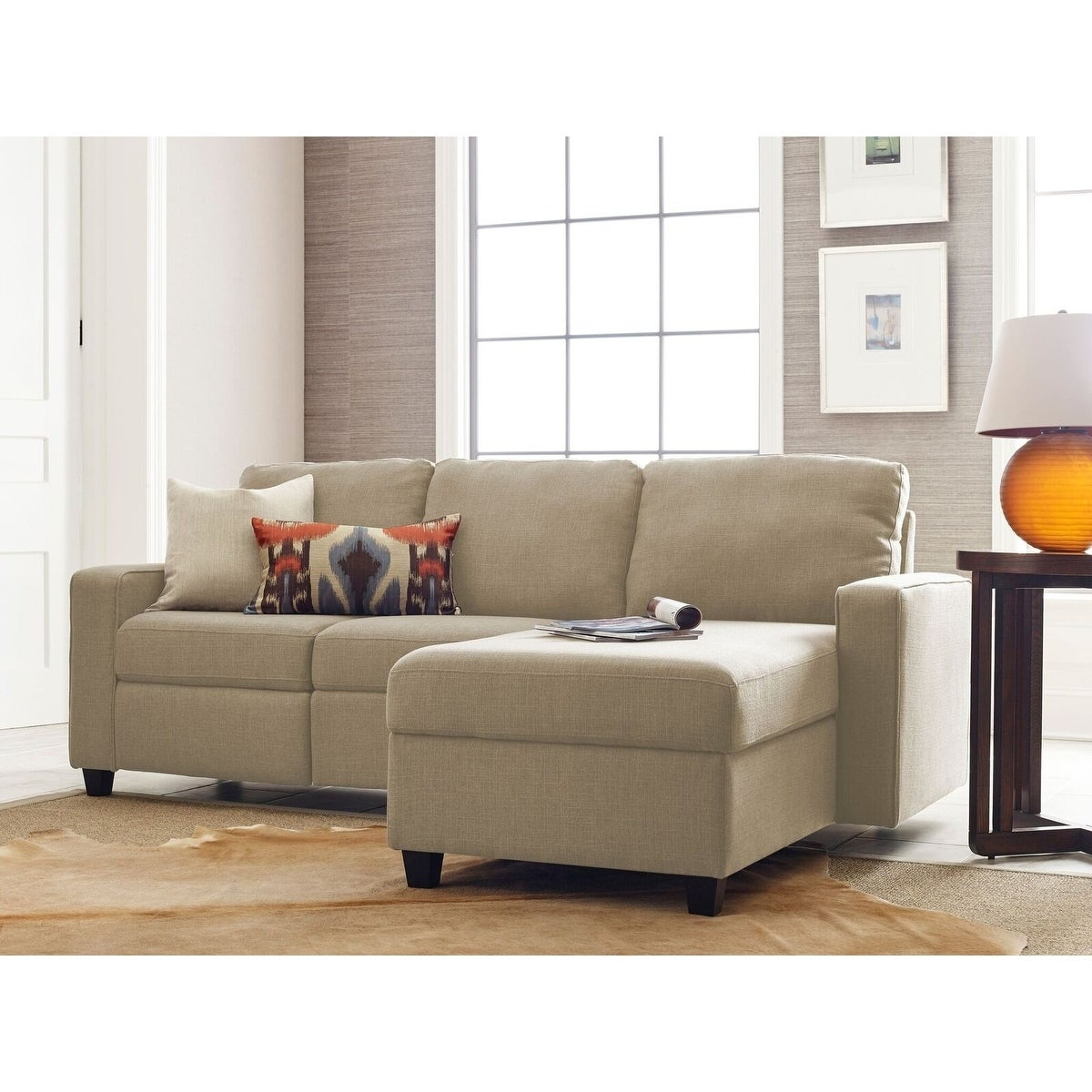 Shop Serta Palisades Reclining Sectional With Right Storage Chaise   Free  Shipping Today   Overstock.com   23005089