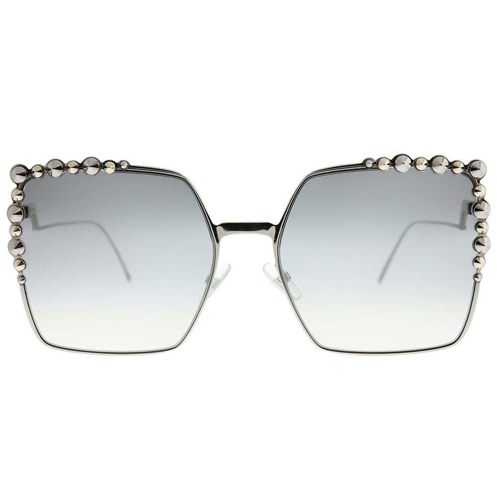 9e7393a460fb Shop Fendi Square FF 0259 Can Eye 010 IC Unisex Palladium Frame Silver Mirror  Gradient Lens Sunglasses - Free Shipping Today - Overstock - 23007762