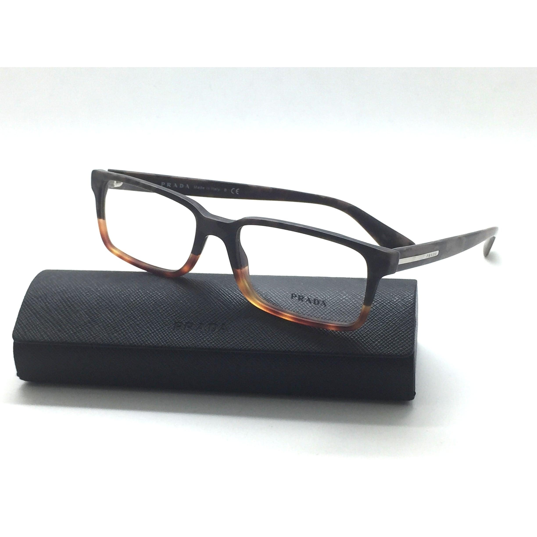 d76906f4a62 Shop PRADA VPR 15Q QE1-1O1 Gray Marbel Havana 54 17 145 Eyeglasses Made  Italy - New - Free Shipping Today - Overstock.com - 23008411