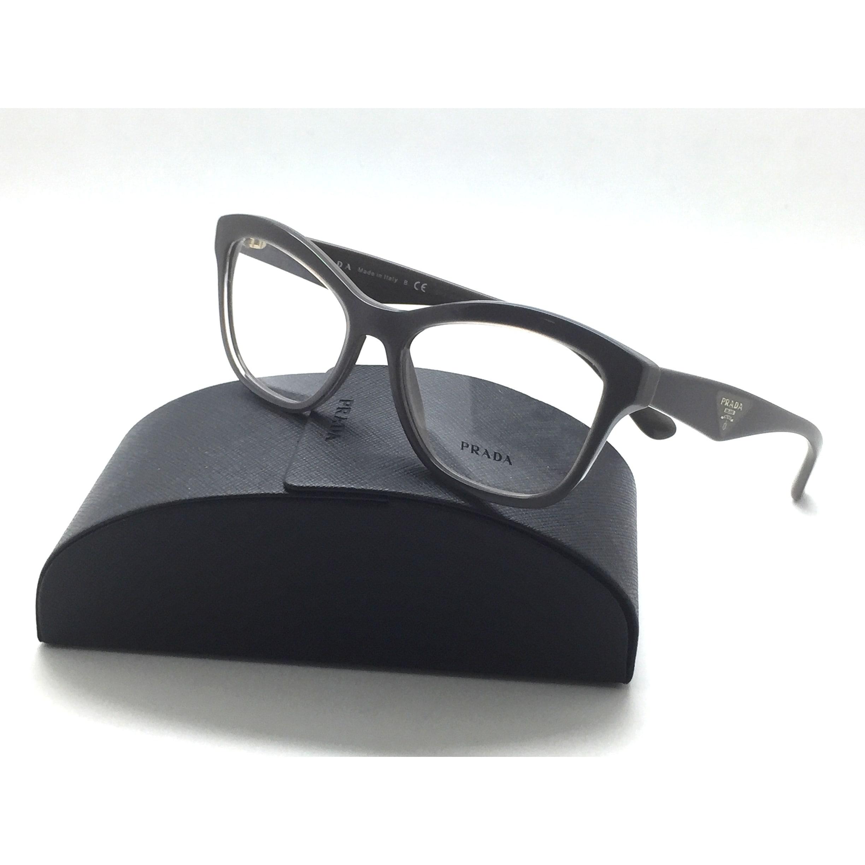 0548ccf6cbfe Shop Prada New Eyeglasses VPR 29R UAM 101 Glossy Brown Acetate 54 17 140  Authentic - Free Shipping Today - Overstock.com - 23008414