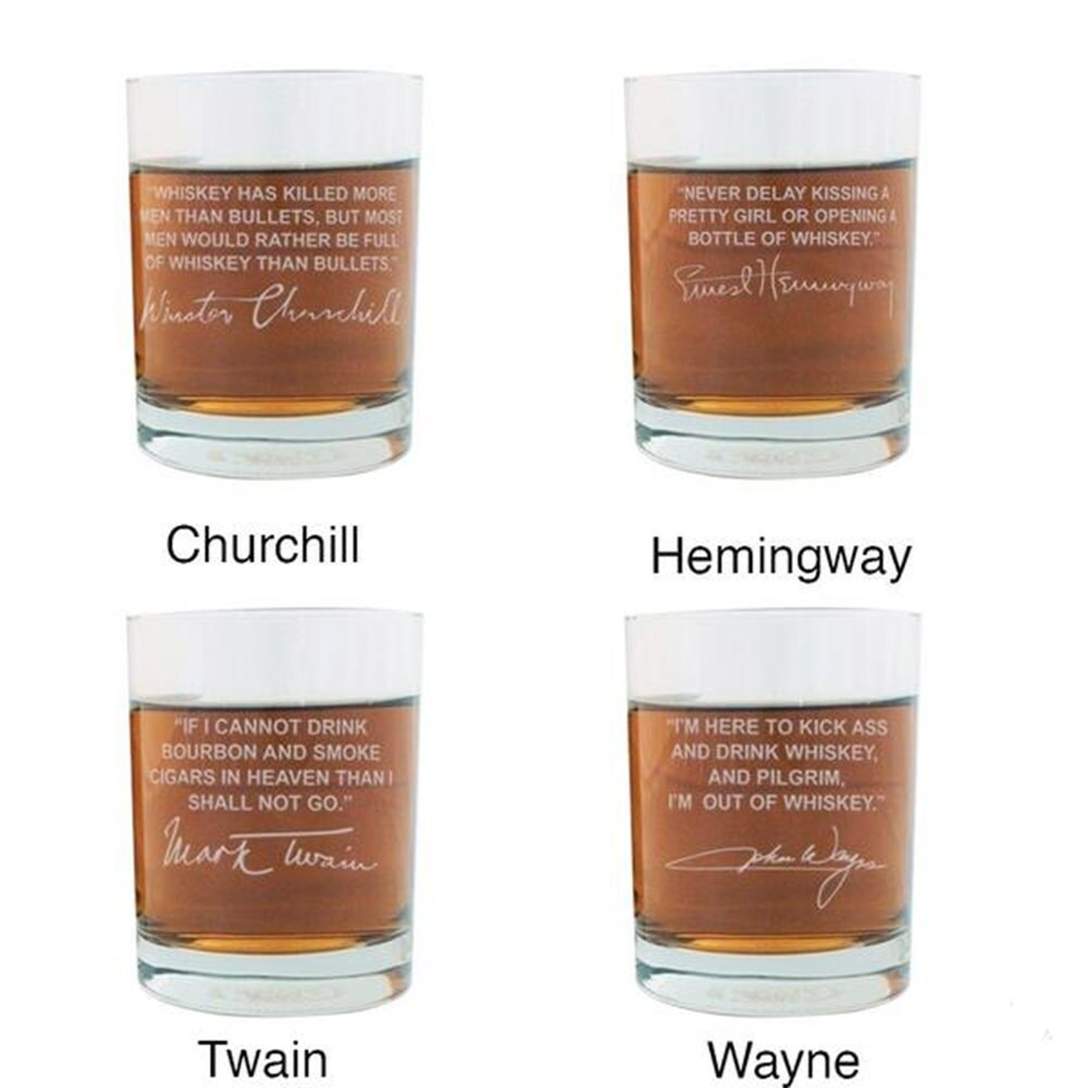 Shop Whiskey Lovers Engraved Personalized Whiskey Glasses - 4 Top ...