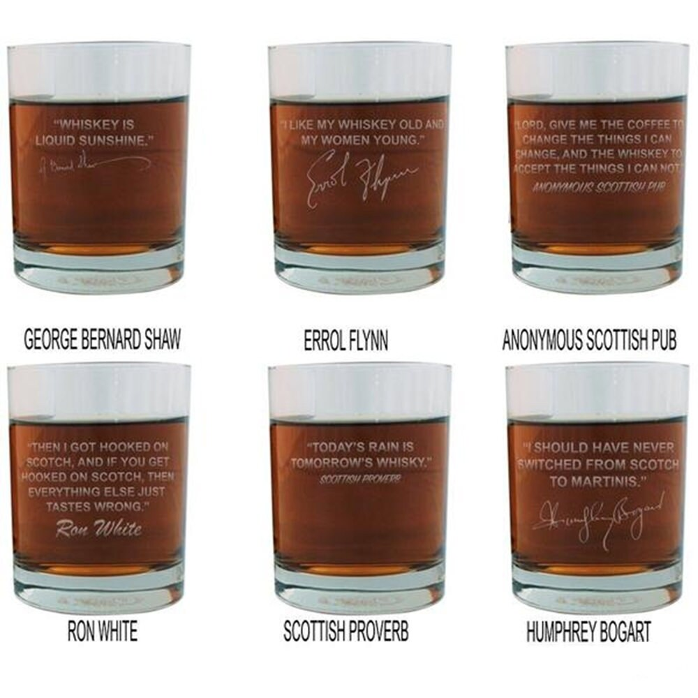 Shop Scotch Lovers Engraved Personalized Whiskey Glasses - Entire ...