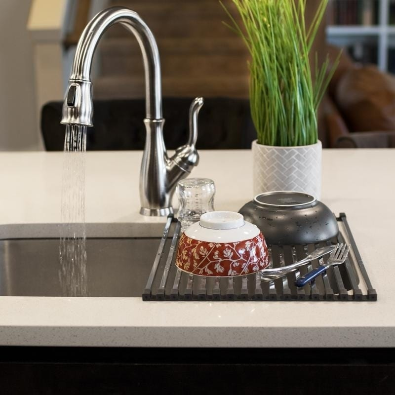 Stainless Steel Square Roll Up Over The Sink Drying Rack Free Shipping On Orders 45 23016422