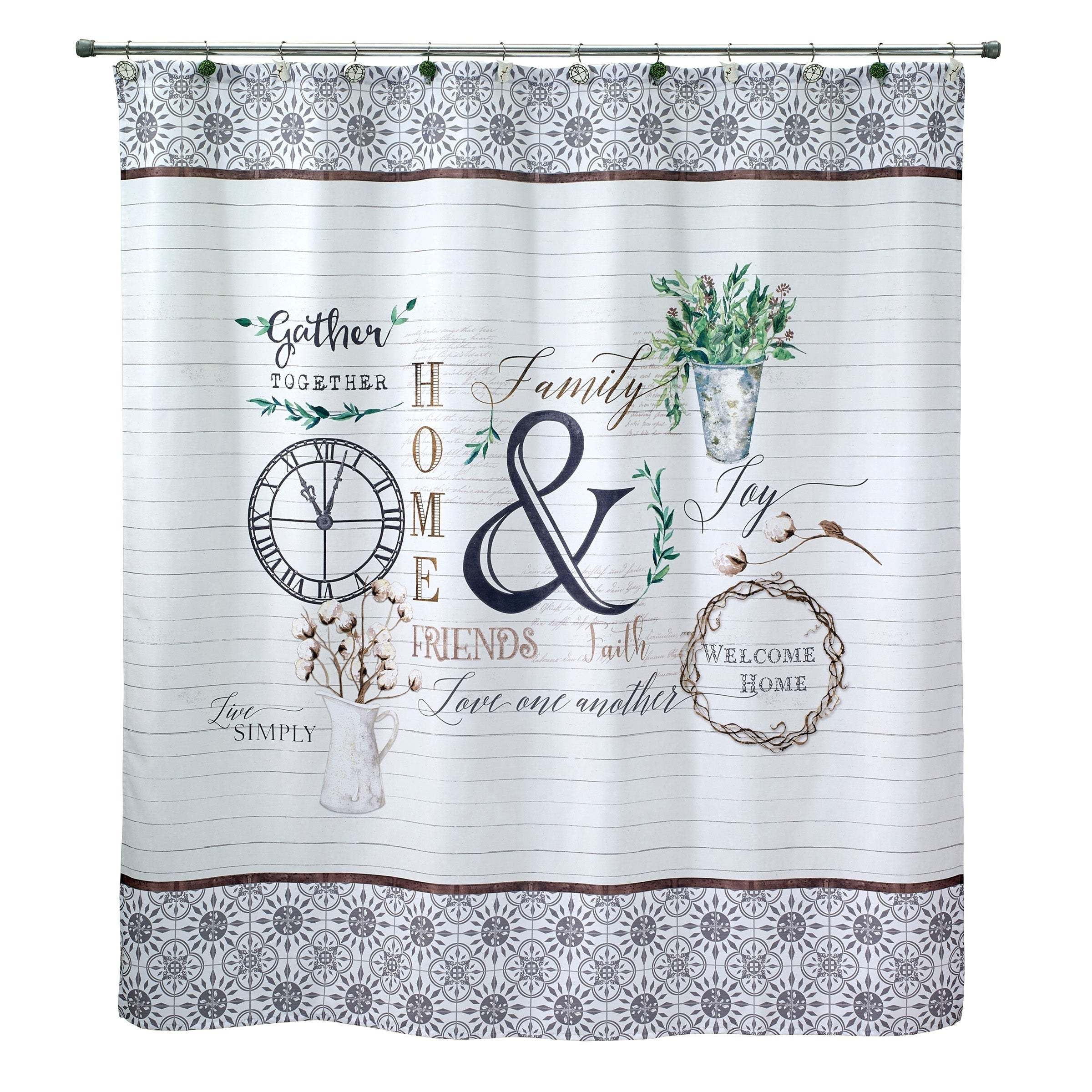 Shop modern farmhouse shower curtain on sale free shipping on orders over 45 overstock com 23016533
