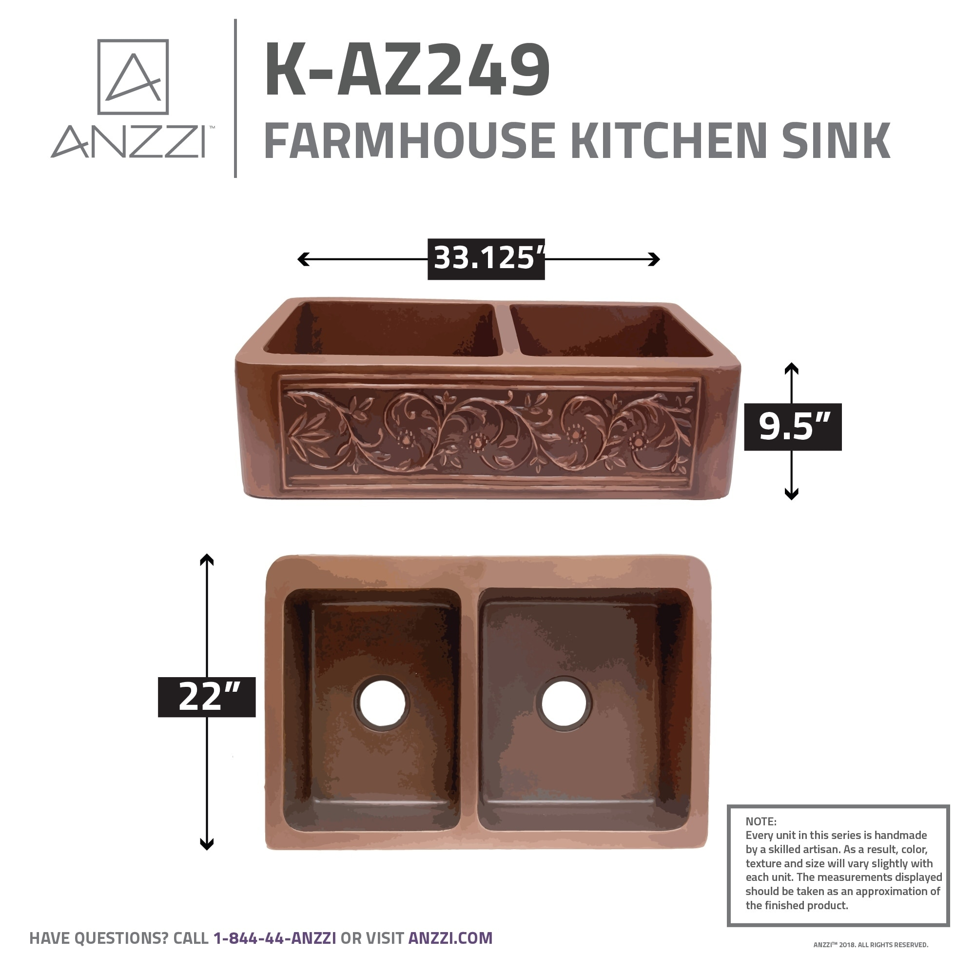 Copper Farmhouse Apron Front Kitchen Sinks on double bowl apron sinks, 25 apron front sinks, apron front farm sinks, copper farm sinks with apron, lowe's apron front sinks,