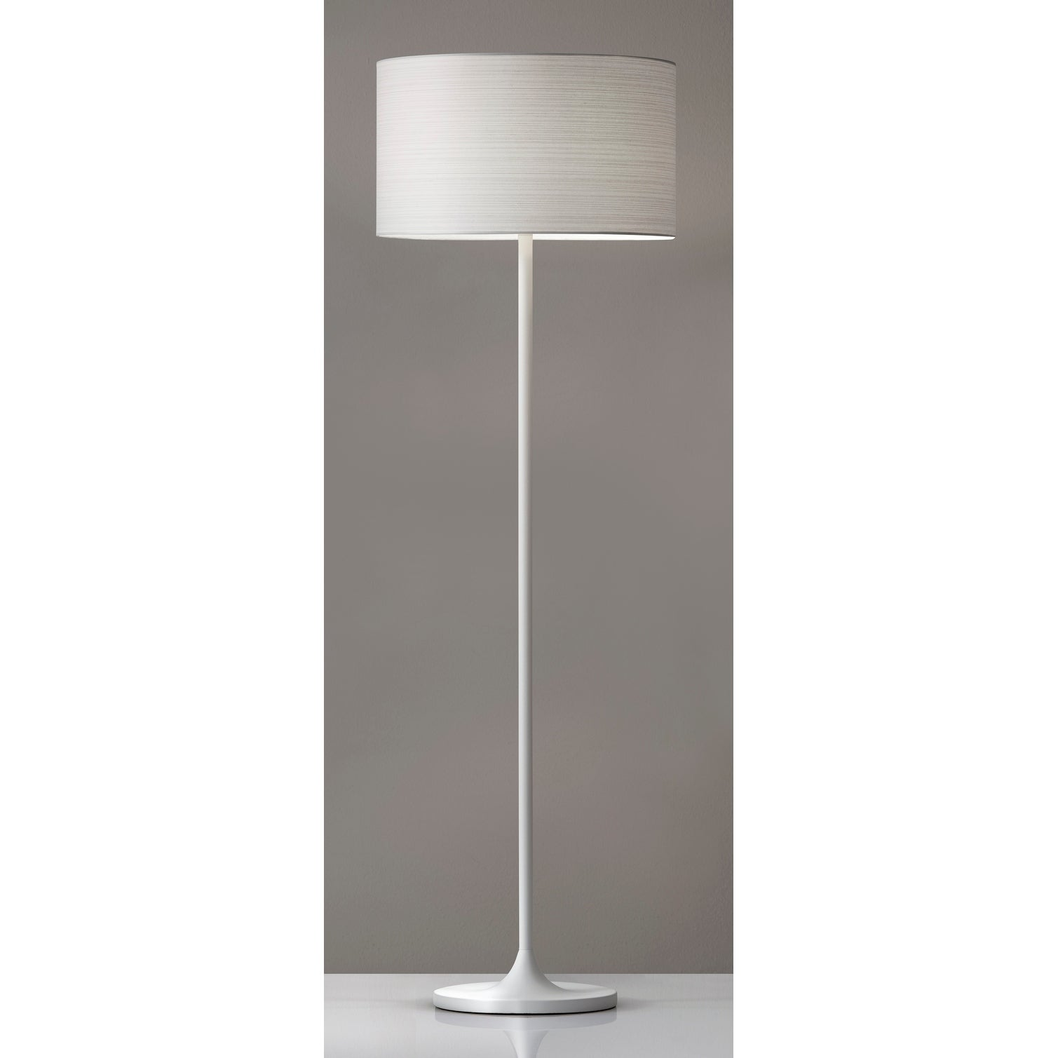 Image of: Shop Black Friday Deals On Adesso Oslo White Floor Lamp Overstock 23034092