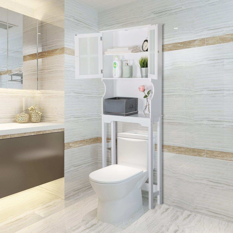 Shop Kinbor Bathroom Organizer Over the Toilet Storage Shelf ...