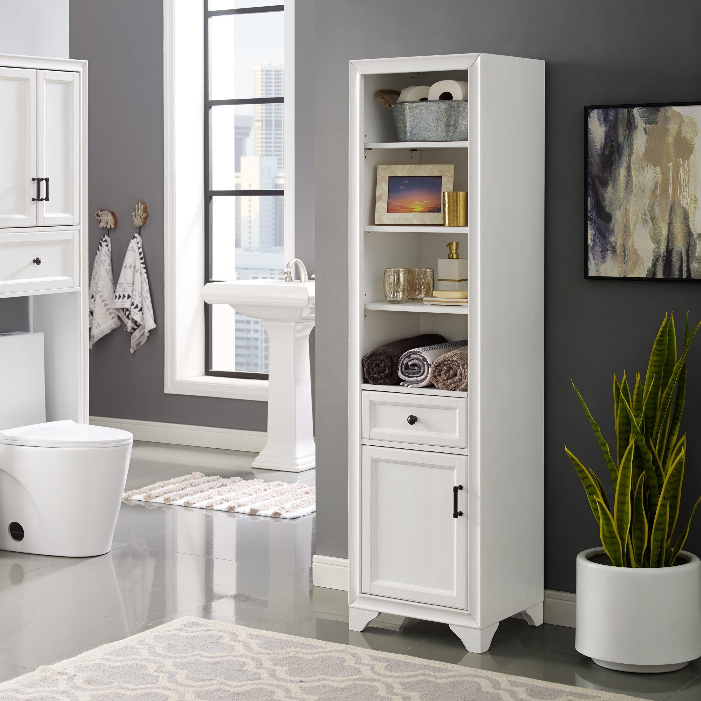 Beau Tara Linen Cabinet In Vintage White
