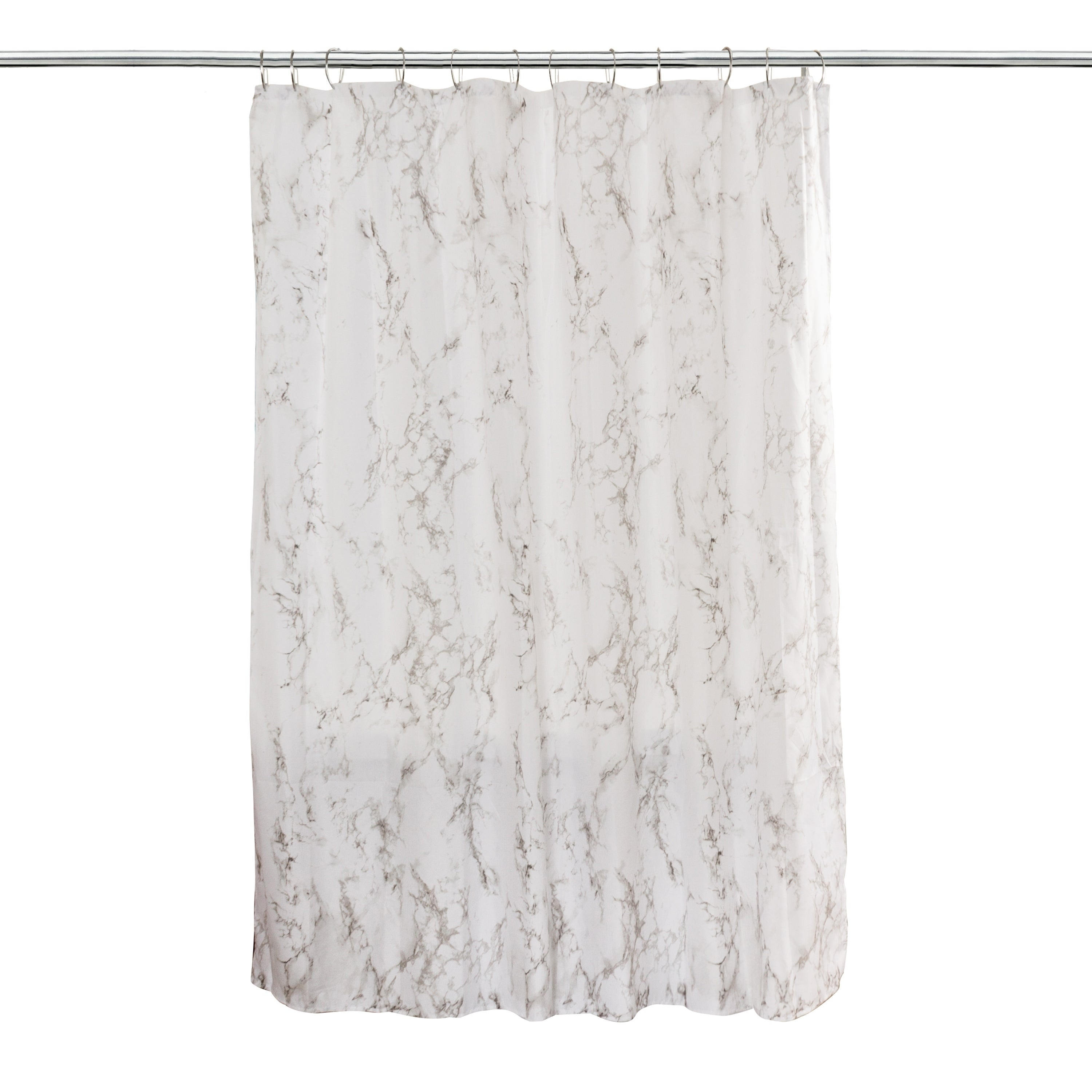 Shop Splash Home Marble Polyester Fabric Shower Curtain, 70\