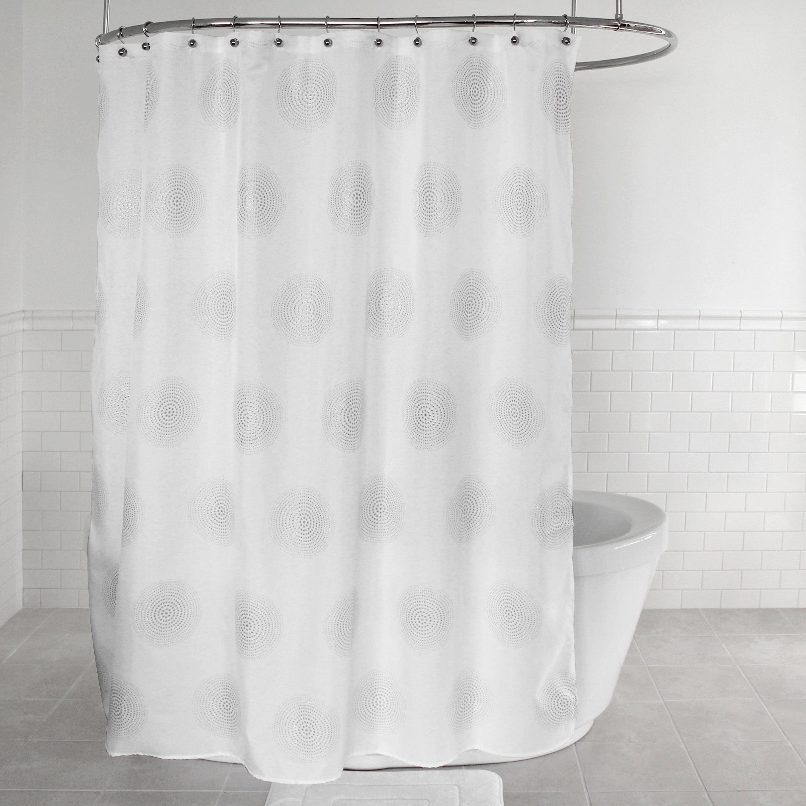 Shop Splash Home Radiant Polyester Fabric Shower Curtain 70 X 72 White