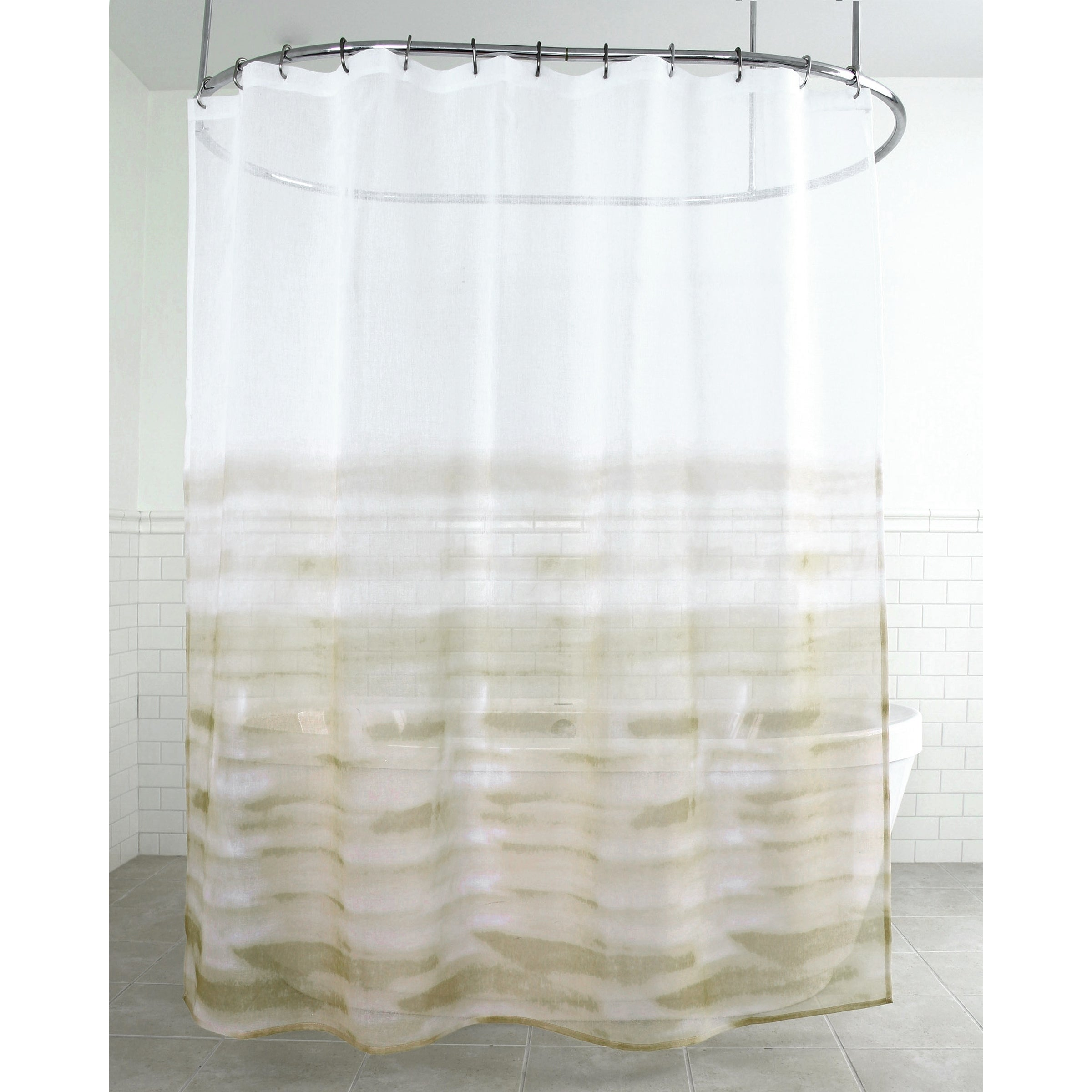 Shop Splash Home Wave Polyester Fabric Shower Curtain 70 X 72 Gold
