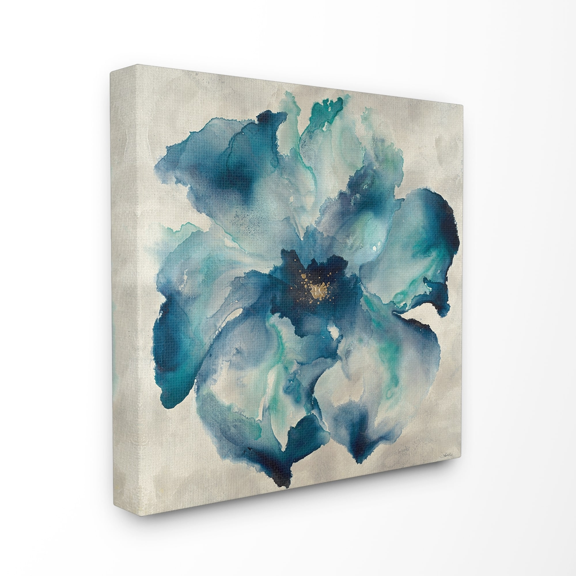 Shop The Stupell Home Dcor Collection Dark Misty Blue Watercolor