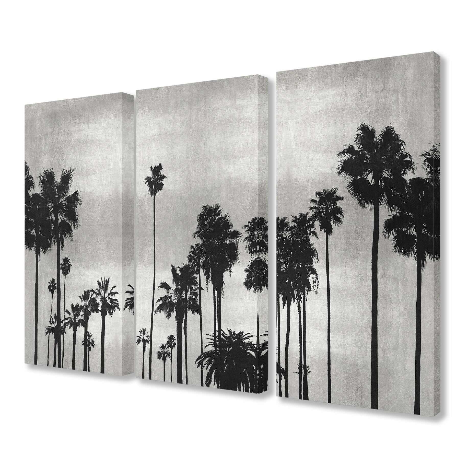 Shop the stupell home décor collection black and white photography palm tree scene canvas 16 x 1 5 x 24 made in the usa free shipping today overstock