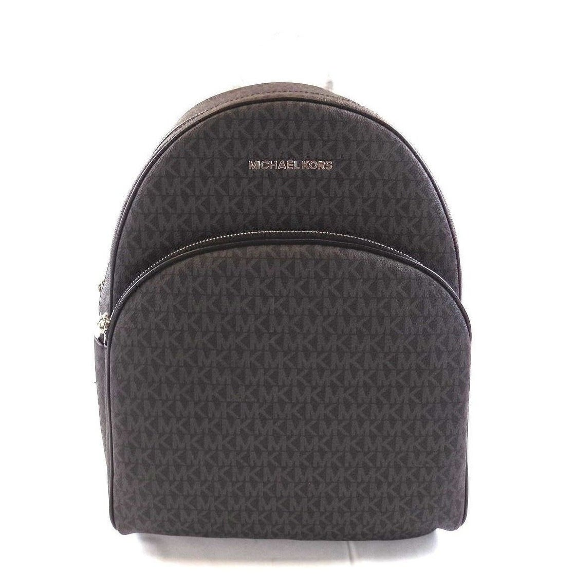 865905dba58e Shop MIchael Kors Abbey Jet Set Large PVC Signature Leather Backpack - Free  Shipping Today - Overstock - 23045169
