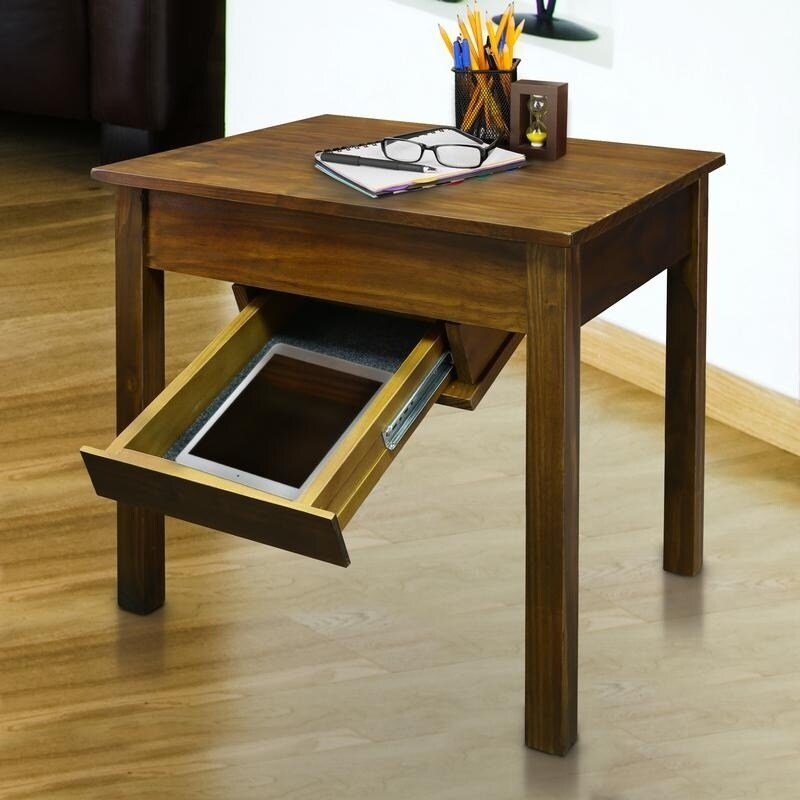 Shop Kennedy End Table With Concealed Drawer Concealment Furniture