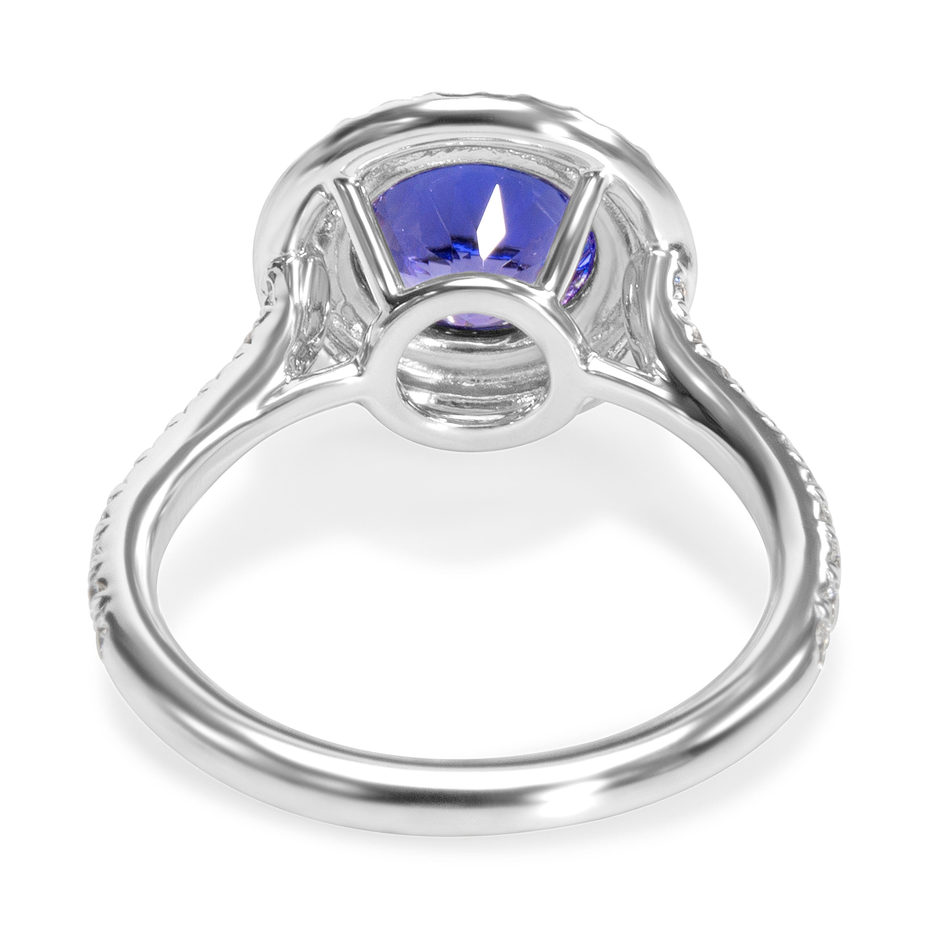 f68ed1f94 Shop Pre-Owned Tiffany & Co. Soleste Tanzanite Engagement Ring in Platinum  1.75 ctw - Free Shipping Today - Overstock - 23056044