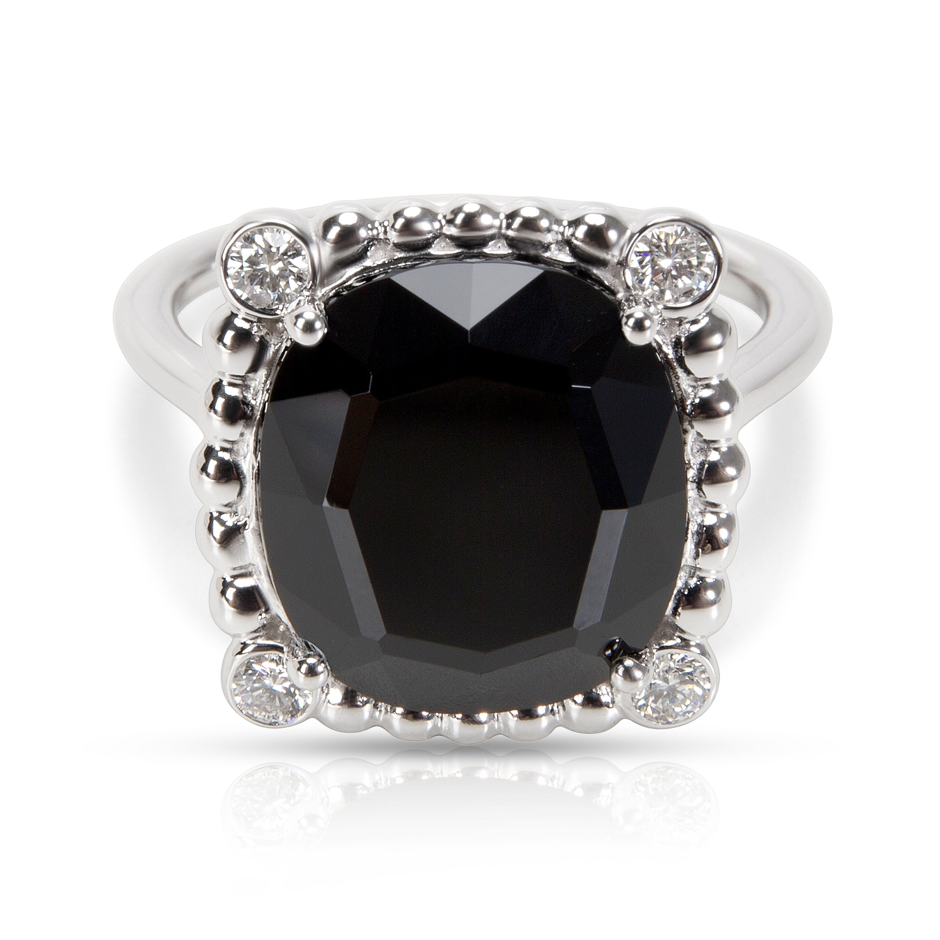 4ae5e11dc Shop Pre-Owned Tiffany & Co. Ziegfeld Onyx & Diamond Spinel Ring in  Sterling Silver - Free Shipping Today - Overstock - 23056123