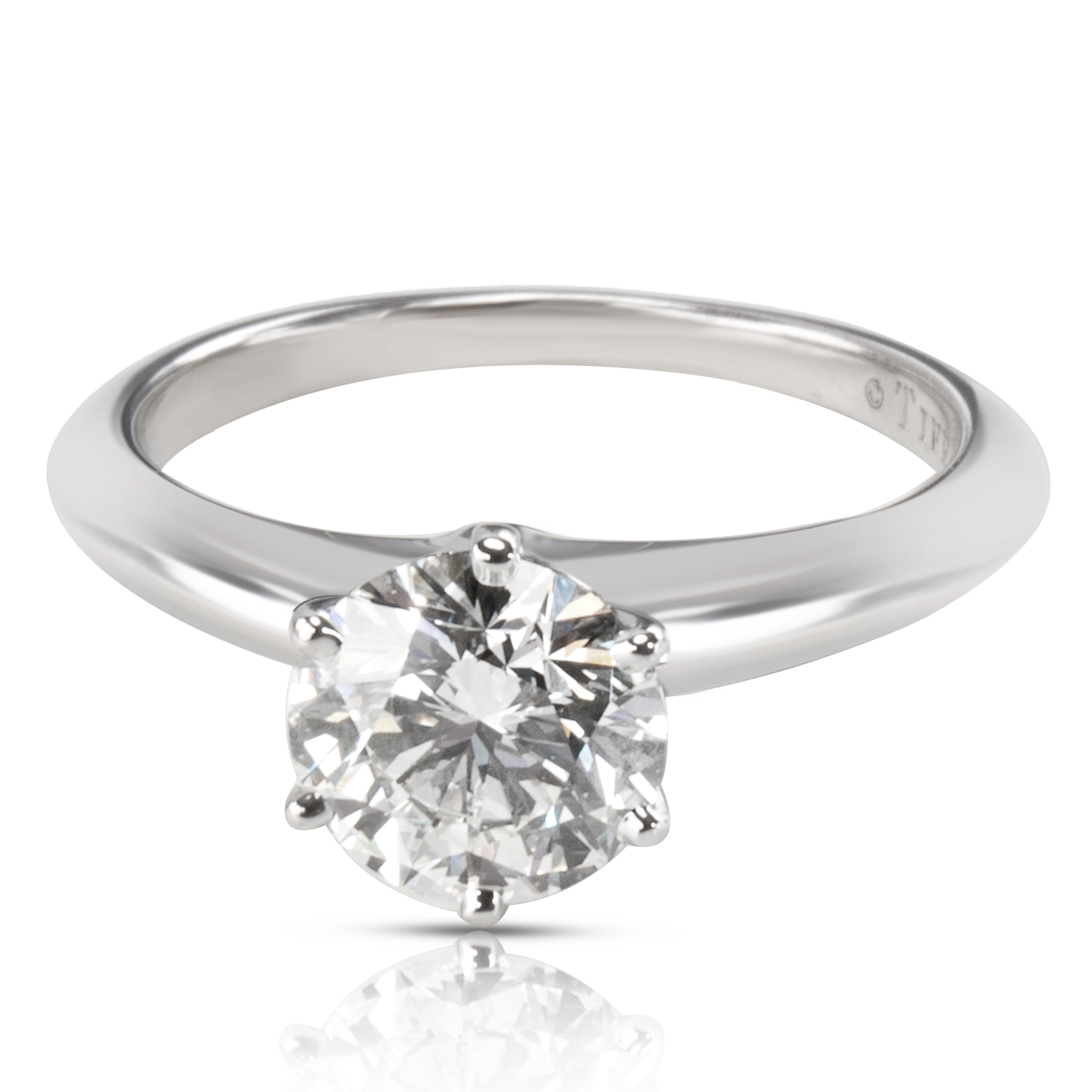 Pre Owned Tiffany Co Diamond Engagement Ring In Platinum 1 52 Ctw H Vvs1 Free Shipping Today 23056611