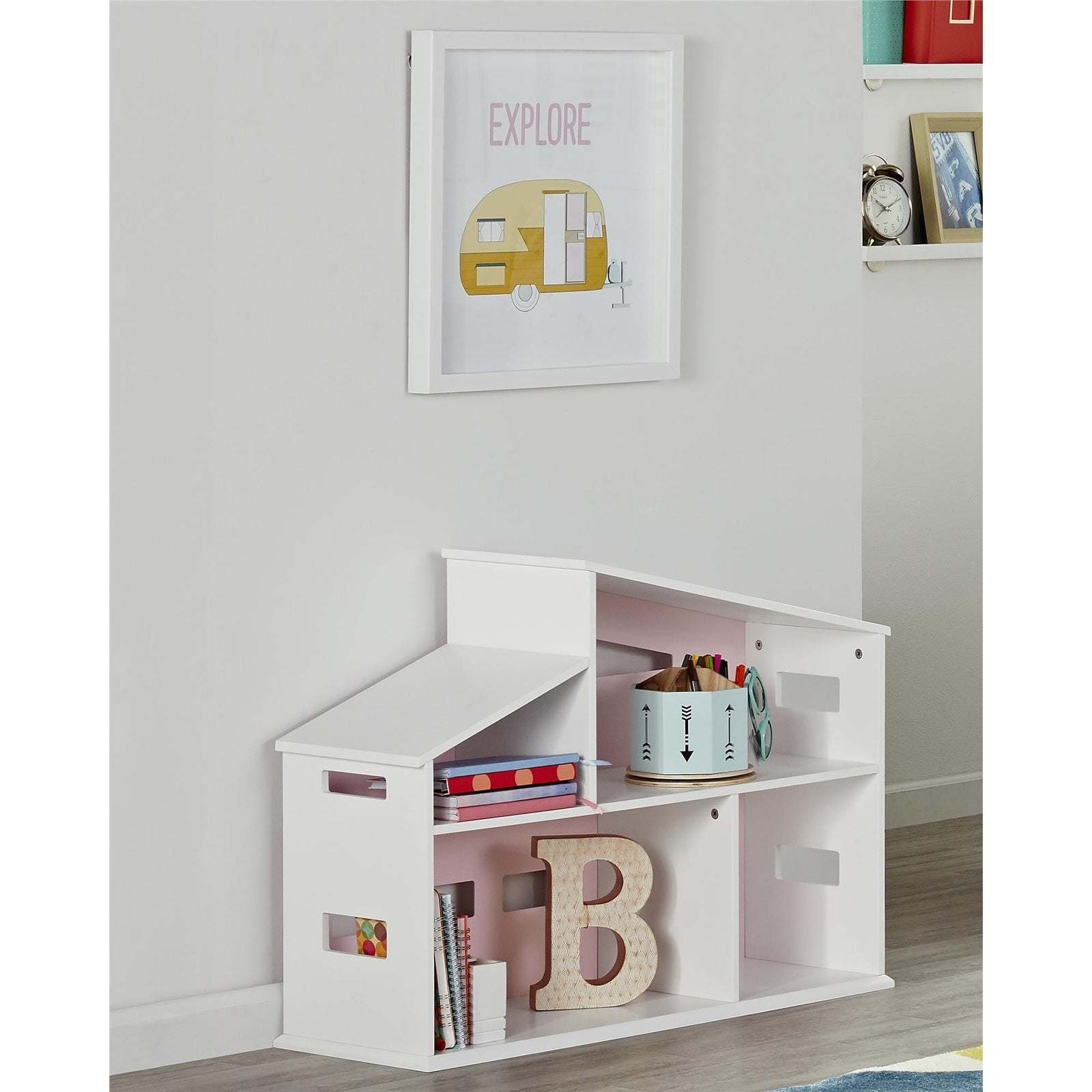 Novogratz Addision White Dollhouse Bookcase