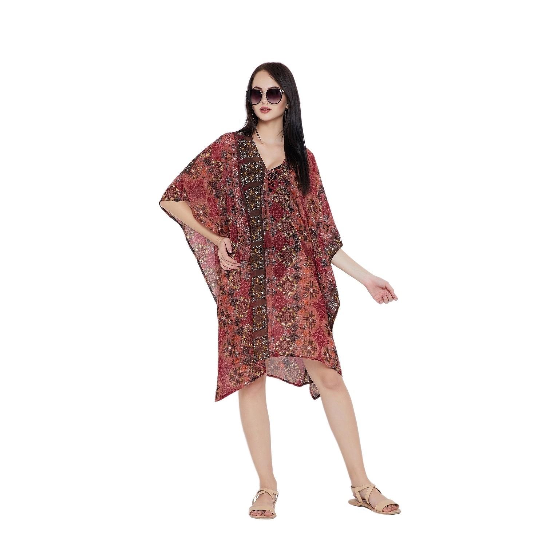 327e9ba3eb01 Shop Canyon Rose Floral Tassel Bikini Cover Ups Beach Dress Swimsuit Womens  - Free Shipping Today - Overstock.com - 23059375
