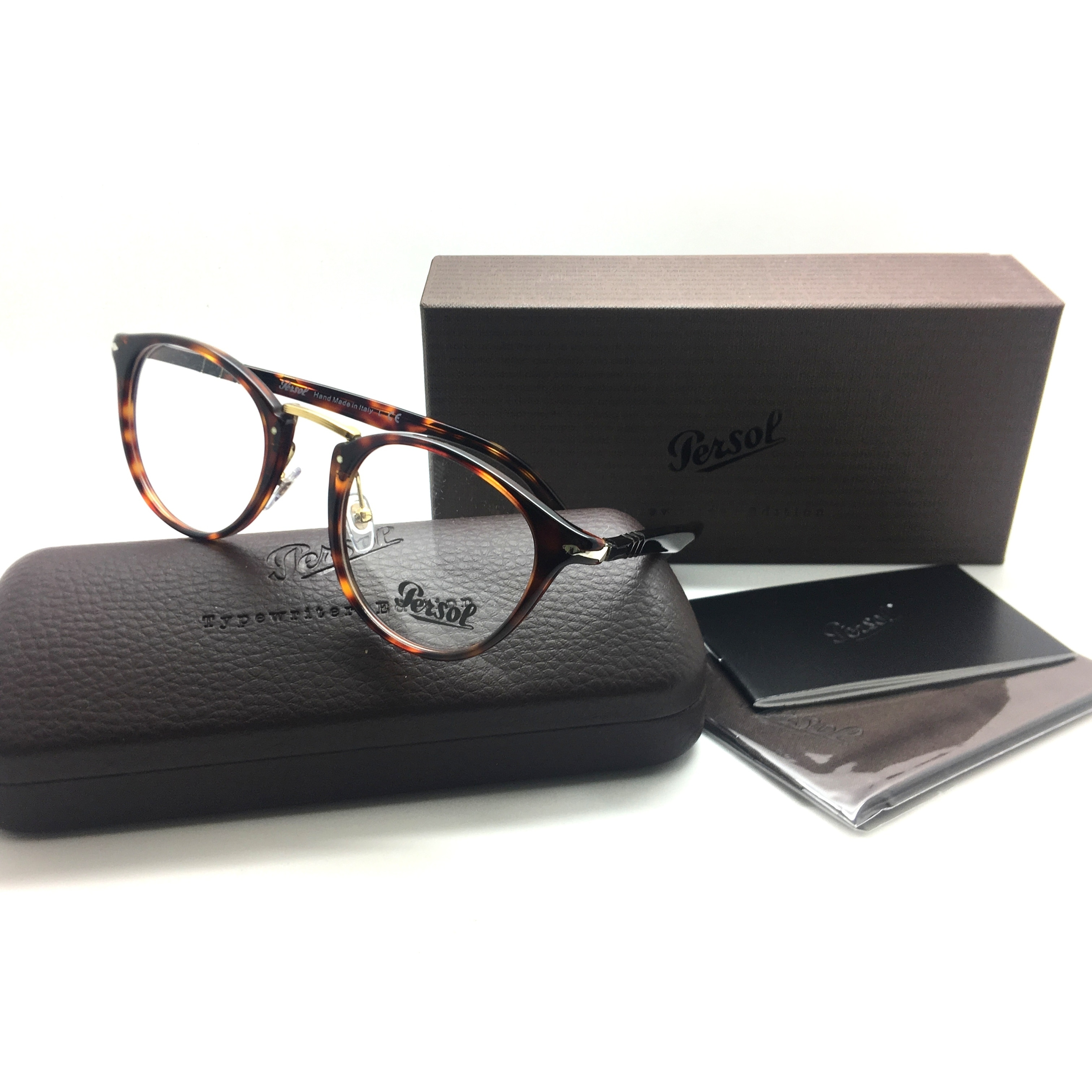 a92114d691a09 Shop PERSOL Rx-able Typewriter Edition Eyeglasses 3107-V 24 47-22 Havana  Tortoise - Free Shipping Today - Overstock - 23059514