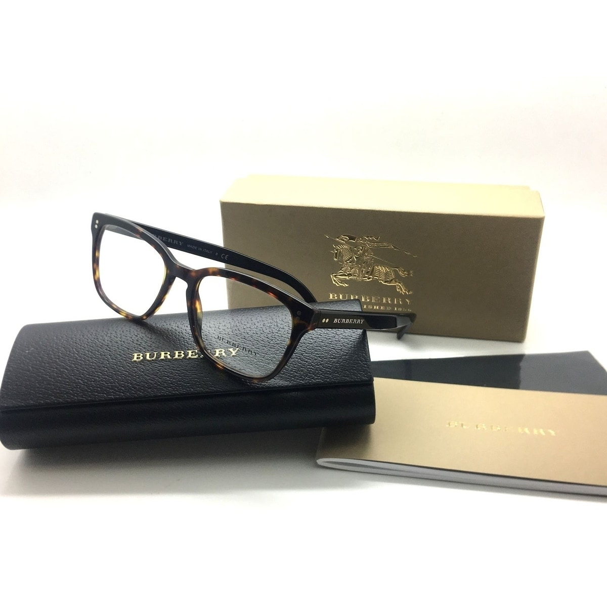 7369c478e57 Shop Burberry Square Unisex Shiny Tortoise B 2225 3397 53MM - Free Shipping  Today - Overstock - 23059546