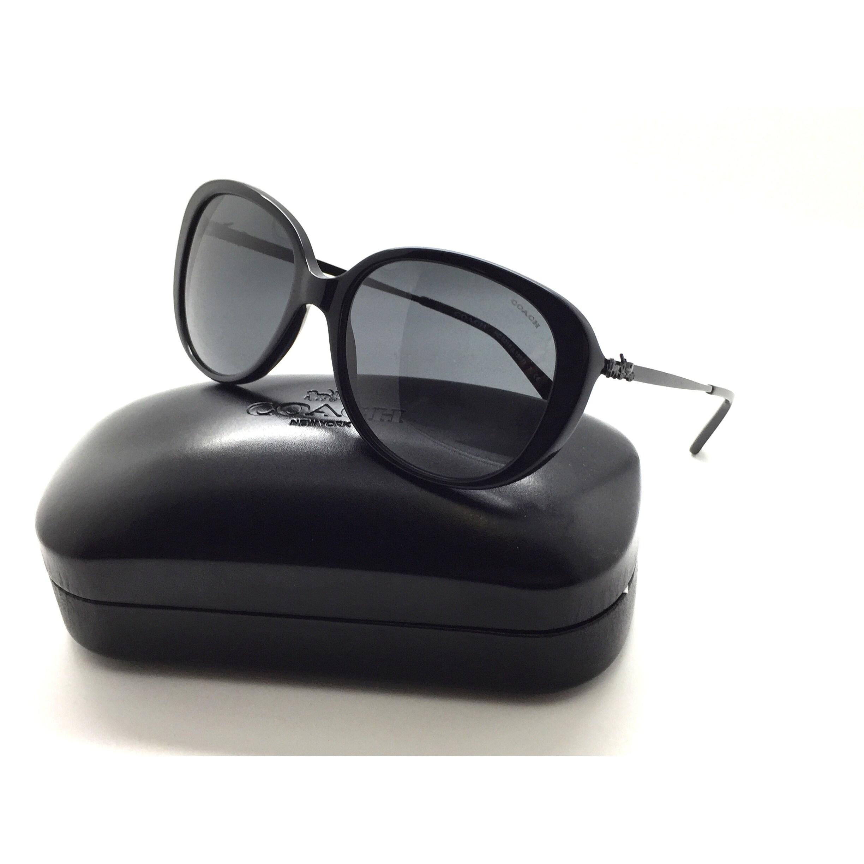 8f3b26fc32 Shop Coach Women s HC8215 548287 57 Black Plastic Metal Oval Sunglasses - Free  Shipping Today - Overstock.com - 23060410