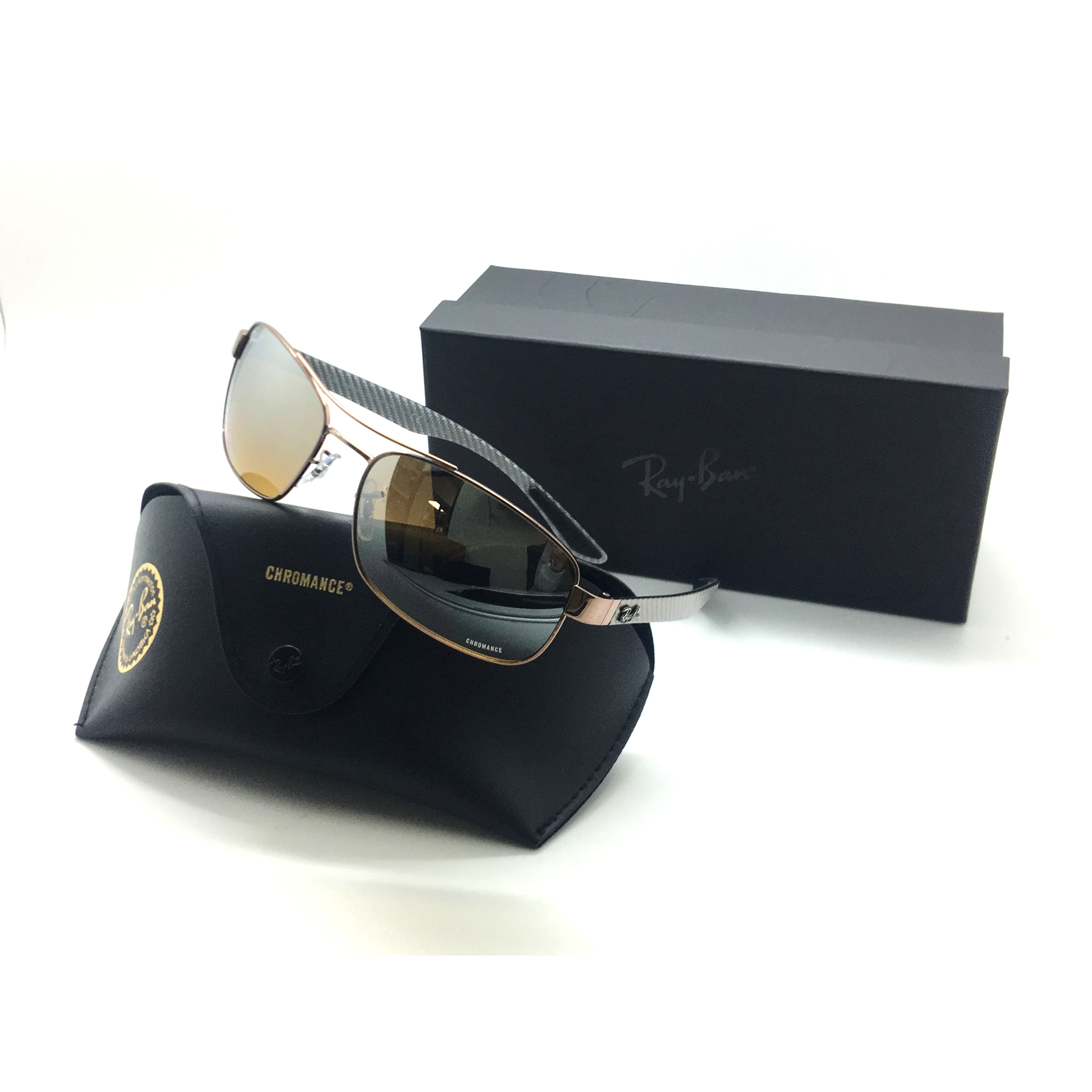 2e6eec05d90 Shop Ray-Ban chromance polarized sunglasses rb 8318ch 121 a2 brown brn  mirror 62 Italy - Ships To Canada - Overstock - 23062408