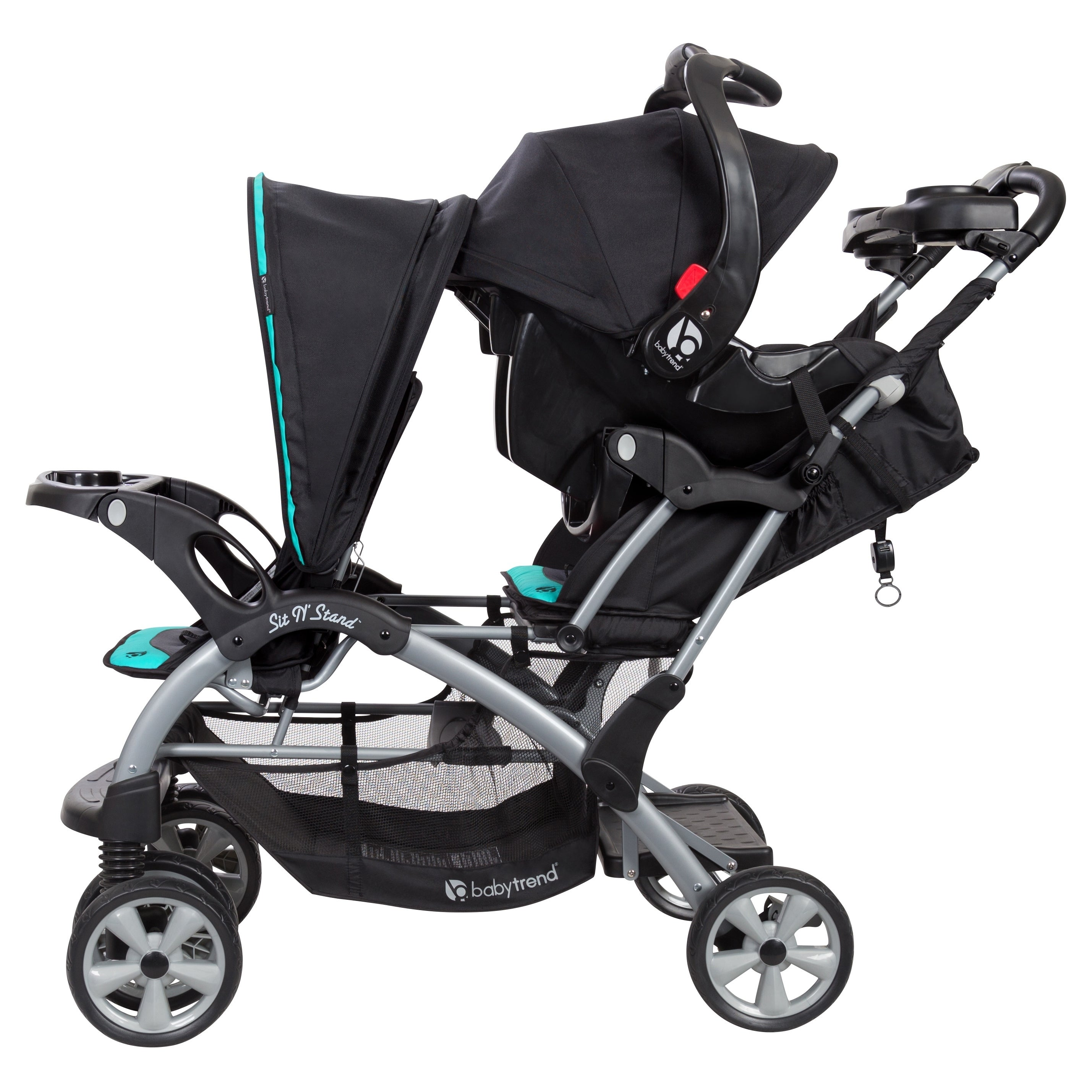 Baby Trend Sit N Stand Double Stroller Optic Teal