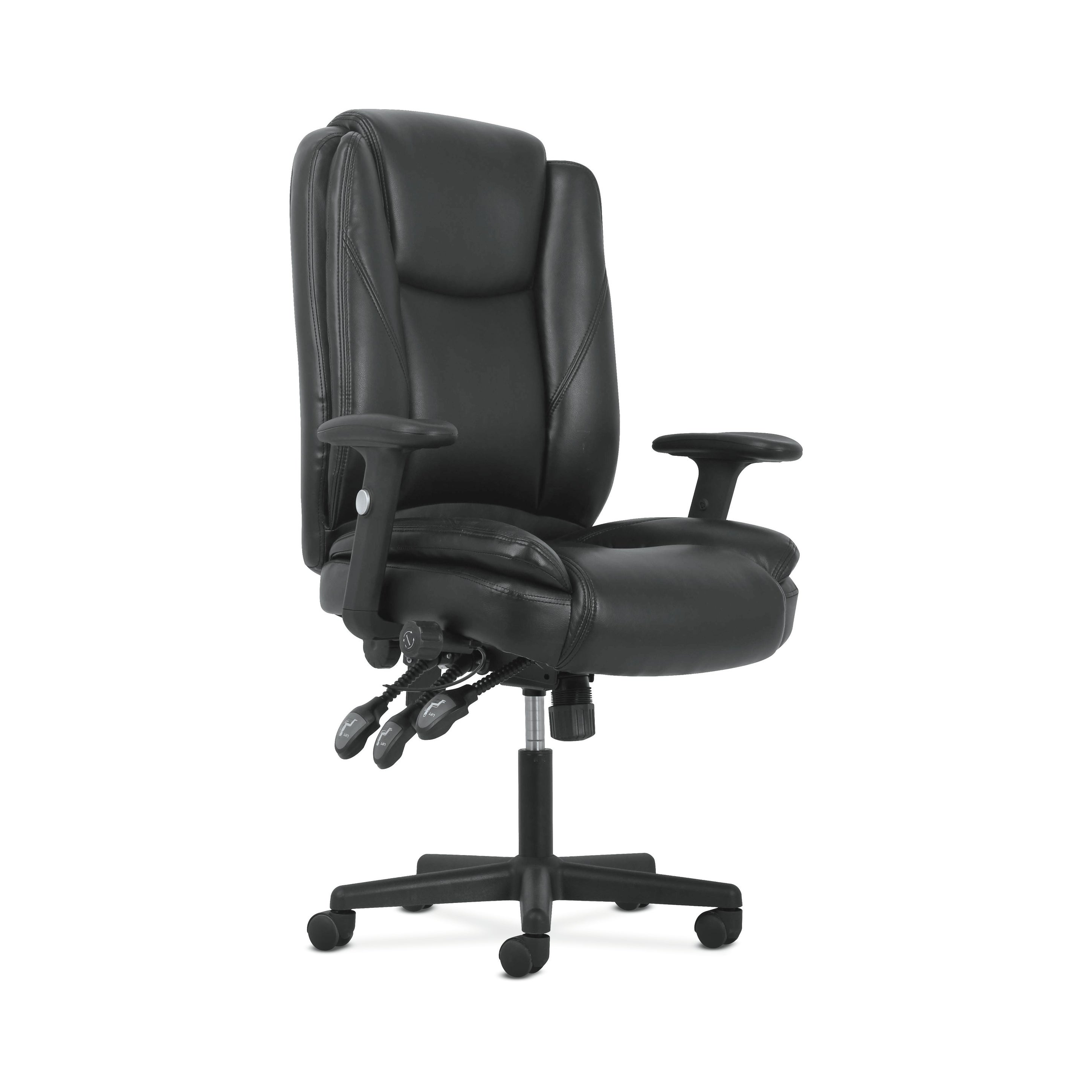 Sadie High Back Leather Office Computer Chair Ergonomic Adjustable Swivel Chair With Lumbar Support Black Bsxvst331 Overstock 23071342