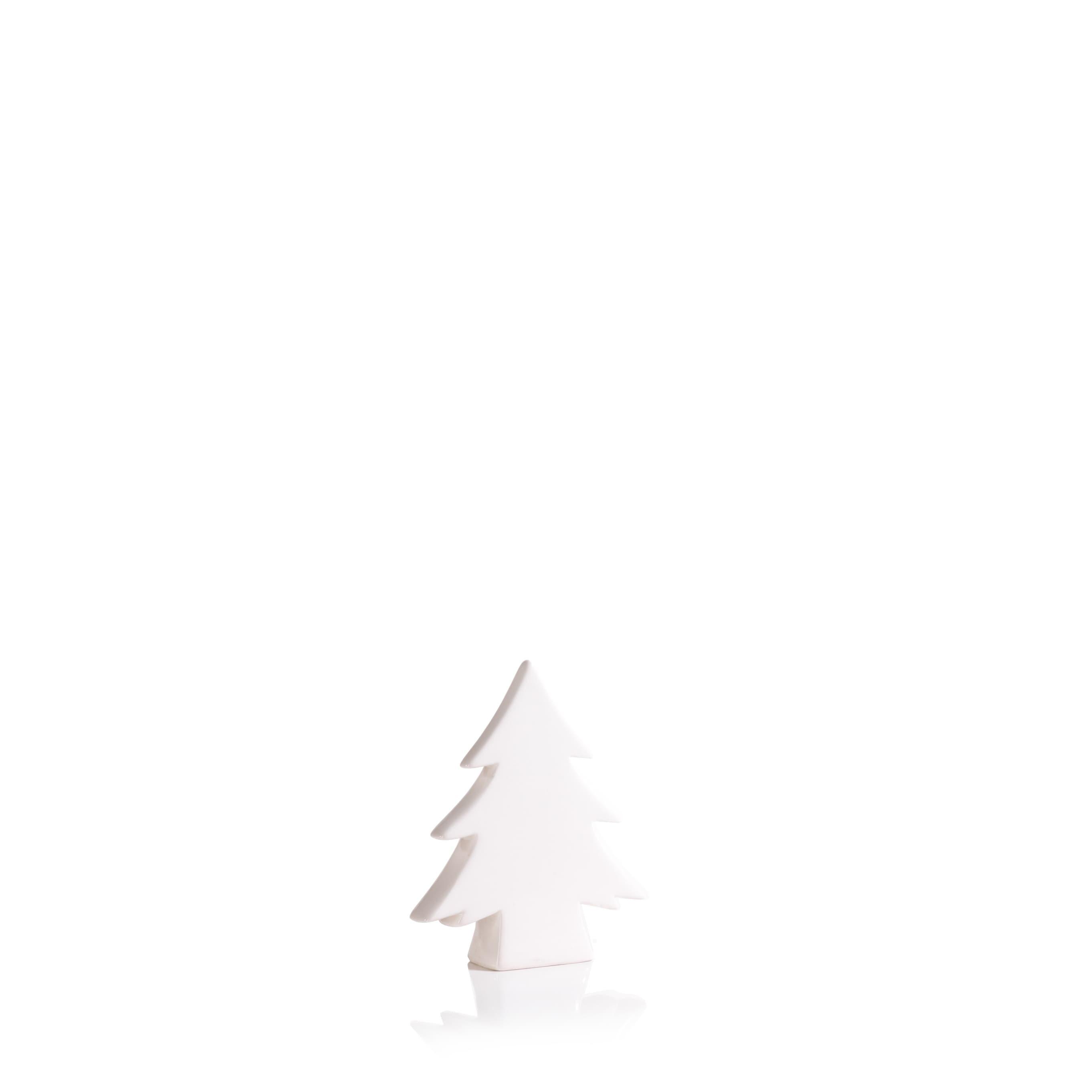 6 5 Tall Teton Ceramic Christmas Tree Tabletop Decoration White Set Of 3