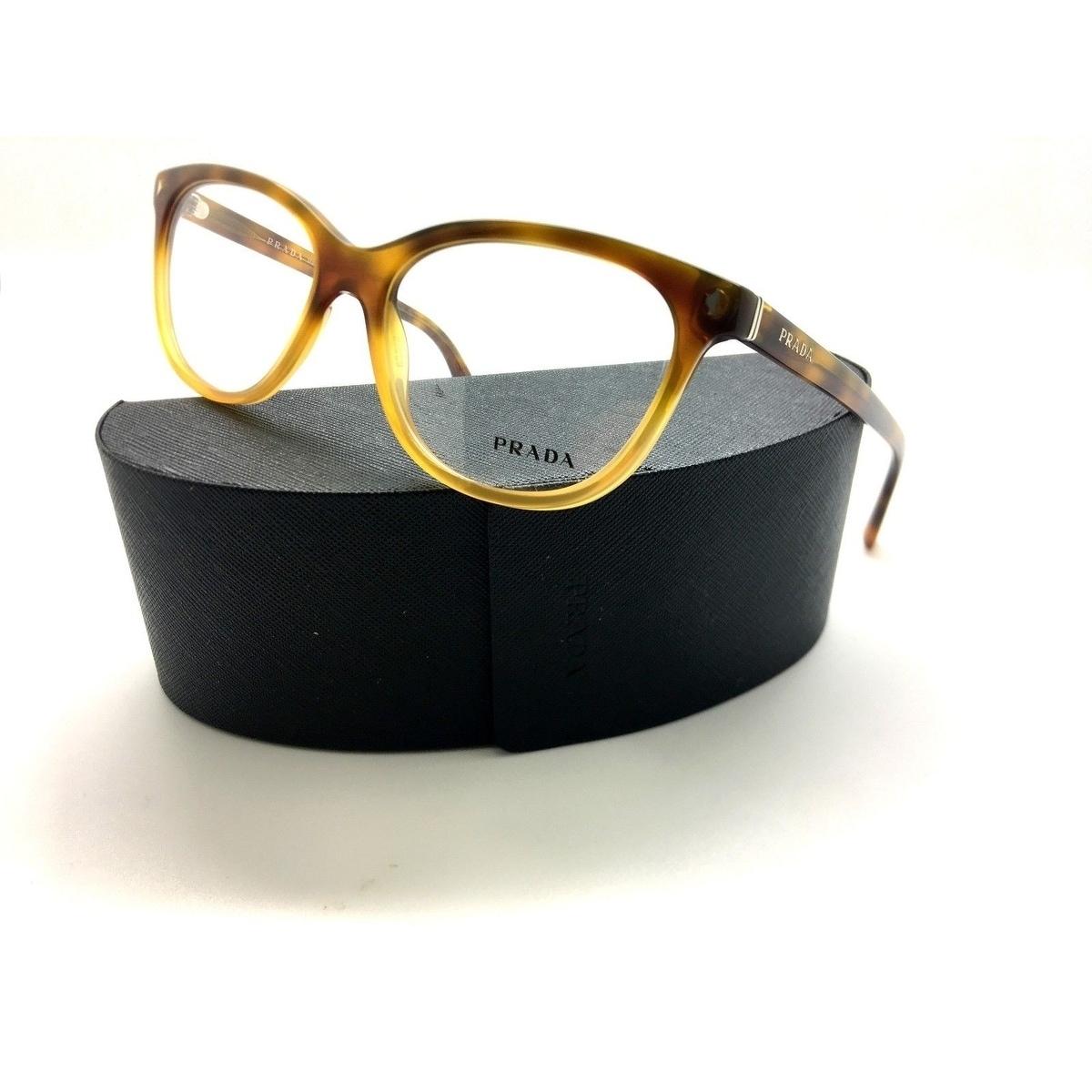 2b2694e03a52 Shop Prada VPR 14R TKU-1O1 Light Havana Authentic Eyeglasses 52mm w/Case -  Free Shipping Today - Overstock - 23106500