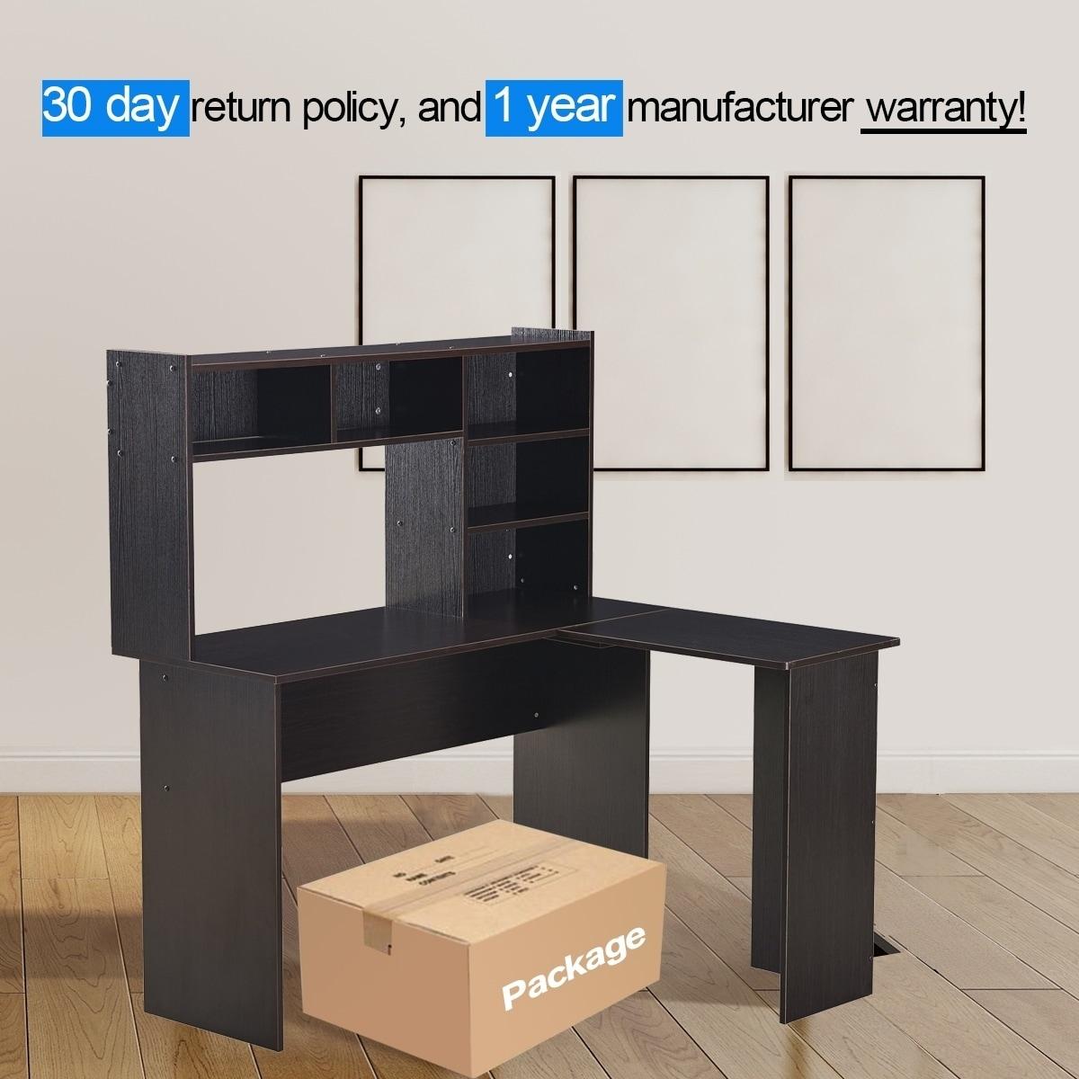 Shop Mcombo L Shaped Desk Corner Desk Home Office Workstation   Free  Shipping Today   Overstock.com   23107875