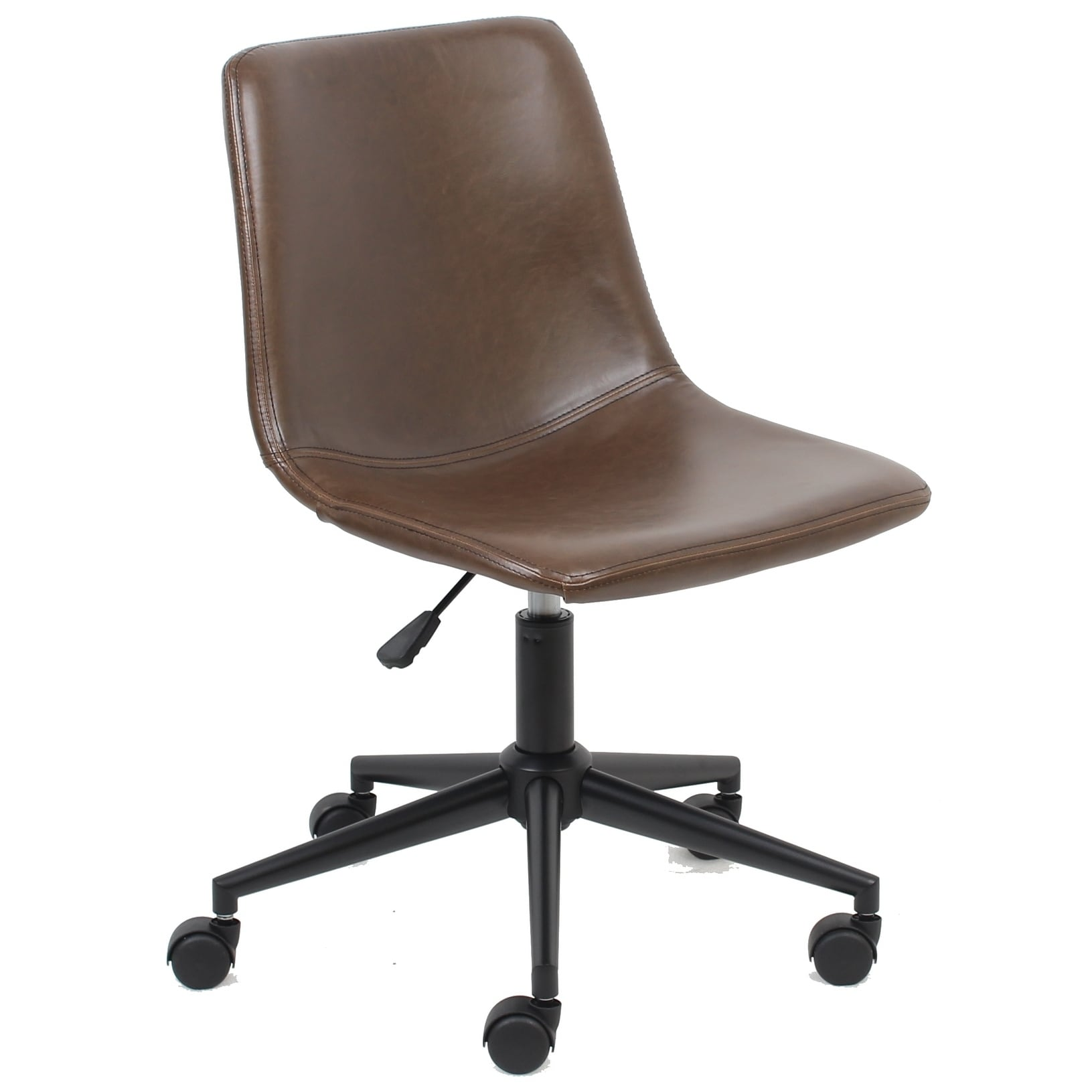 Merveilleux Shop BTExpert Mid Back Fuax Leather Task Chair, Brown Office Chair   N/A    Free Shipping Today   Overstock.com   23111583