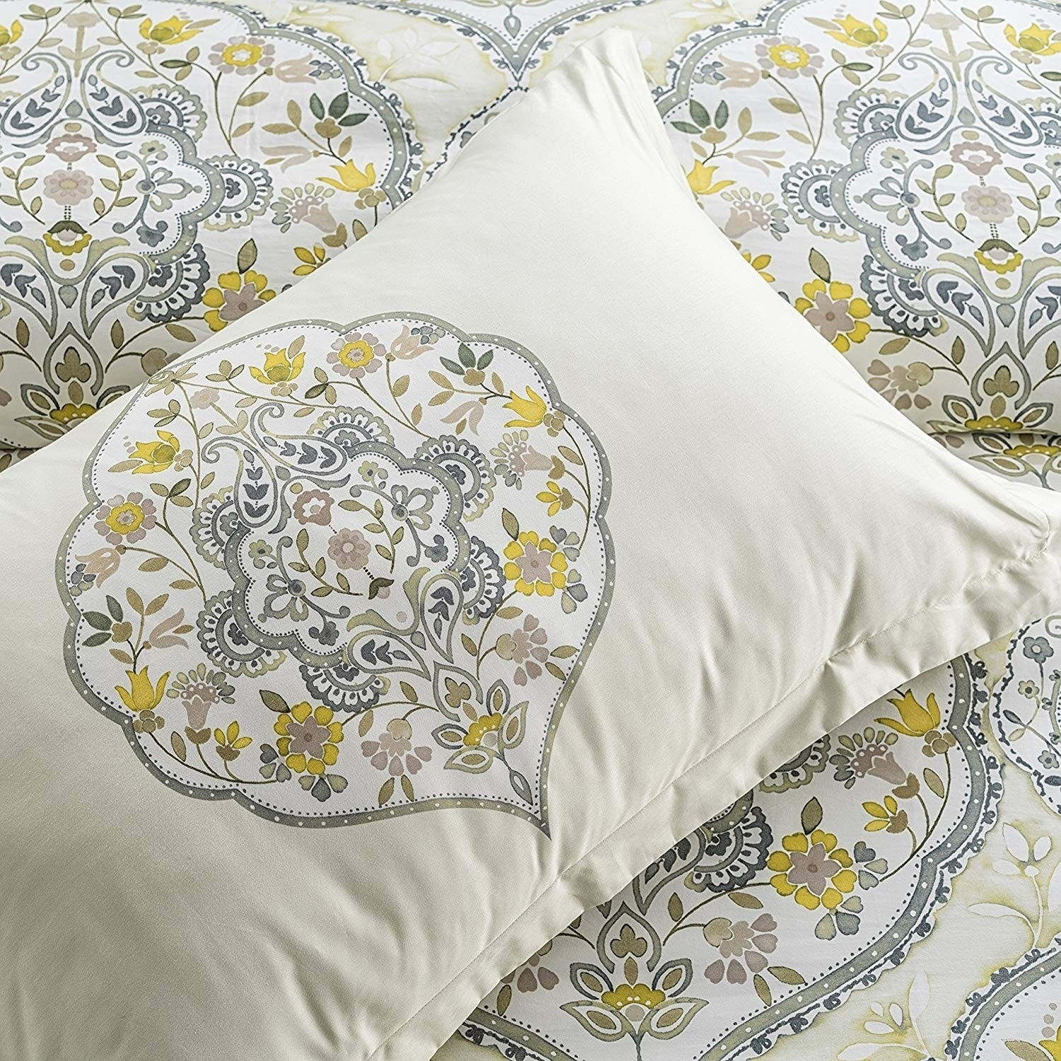 b8dff90e48e03 Shop Gracia Wrinkle Resistant Reversible Print 100% Organic Cotton Duvet  Cover and Sham Set of 2 - Free Shipping Today - Overstock - 23112938