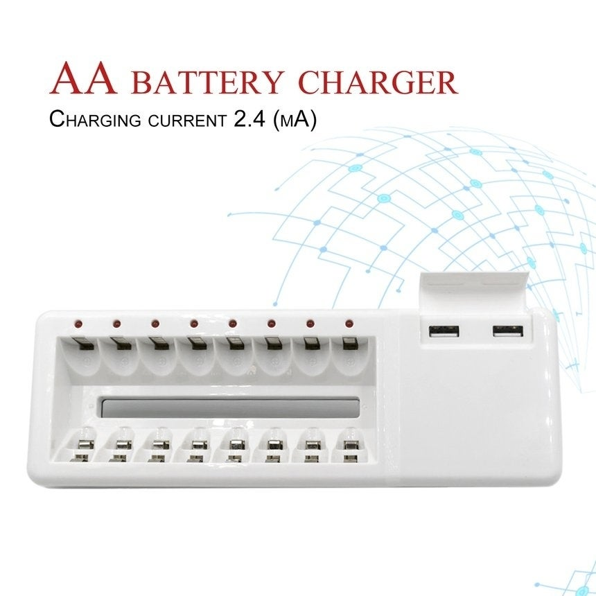 Intelligent Fast Charge Set Independent Charger With 8 Slots Polymer Shell