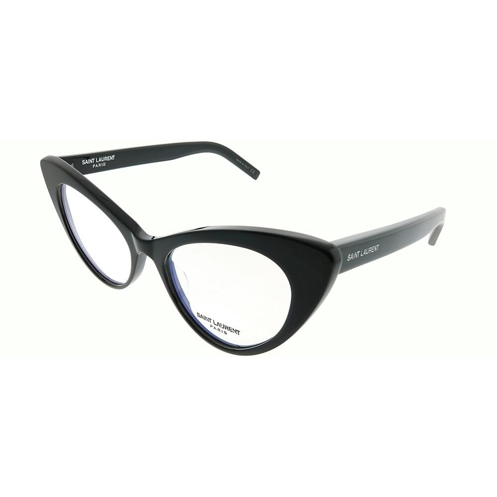 7838ef9b8 Shop Saint Laurent Cat-Eye SL 217 New Wave 001 Women Black Frame Eyeglasses  - Ships To Canada - Overstock - 23115750