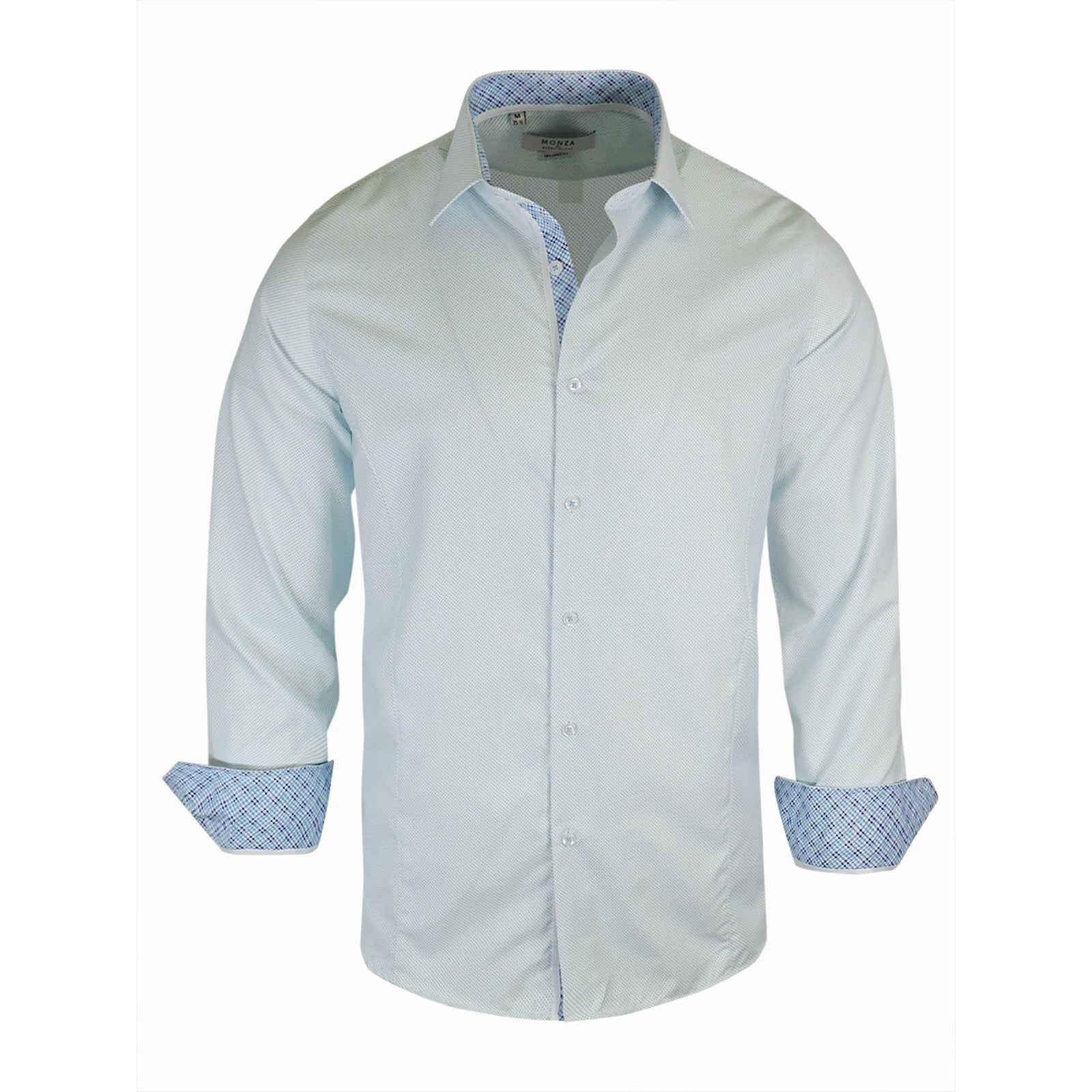 Shop Monza Polka Dots Tailored Fit Dress Shirt Free Shipping On