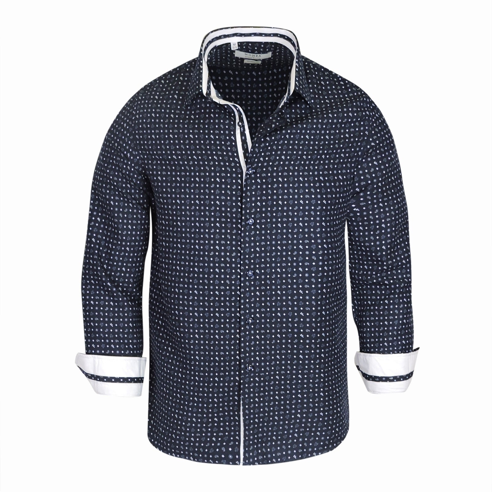 Shop Monza Tailored Fit Printed Mens Shirt On Sale Free