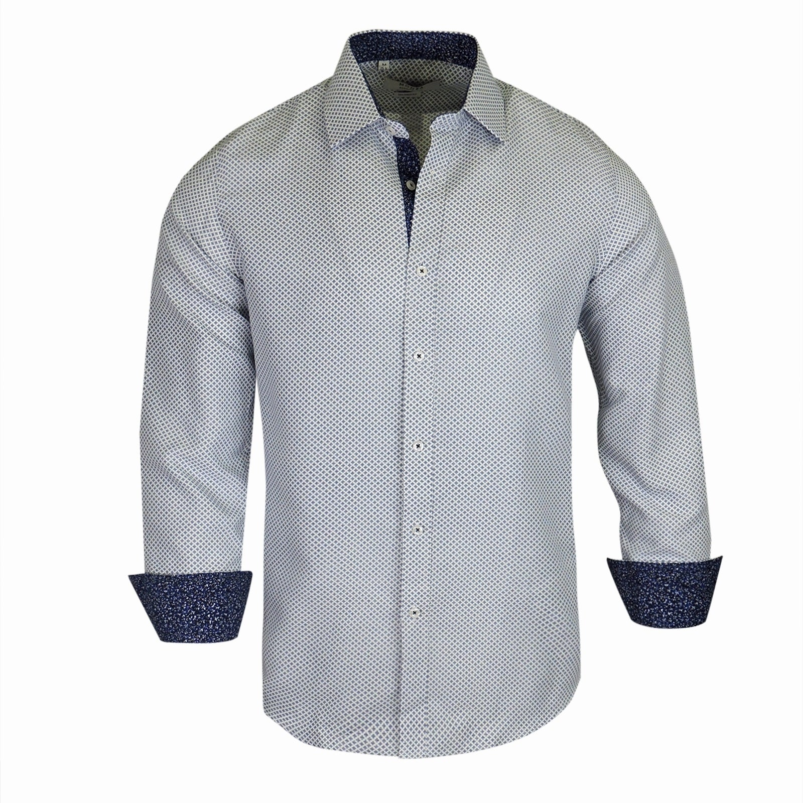 Shop Monza Printed Tailotred Fit Mens Shirt On Sale Free