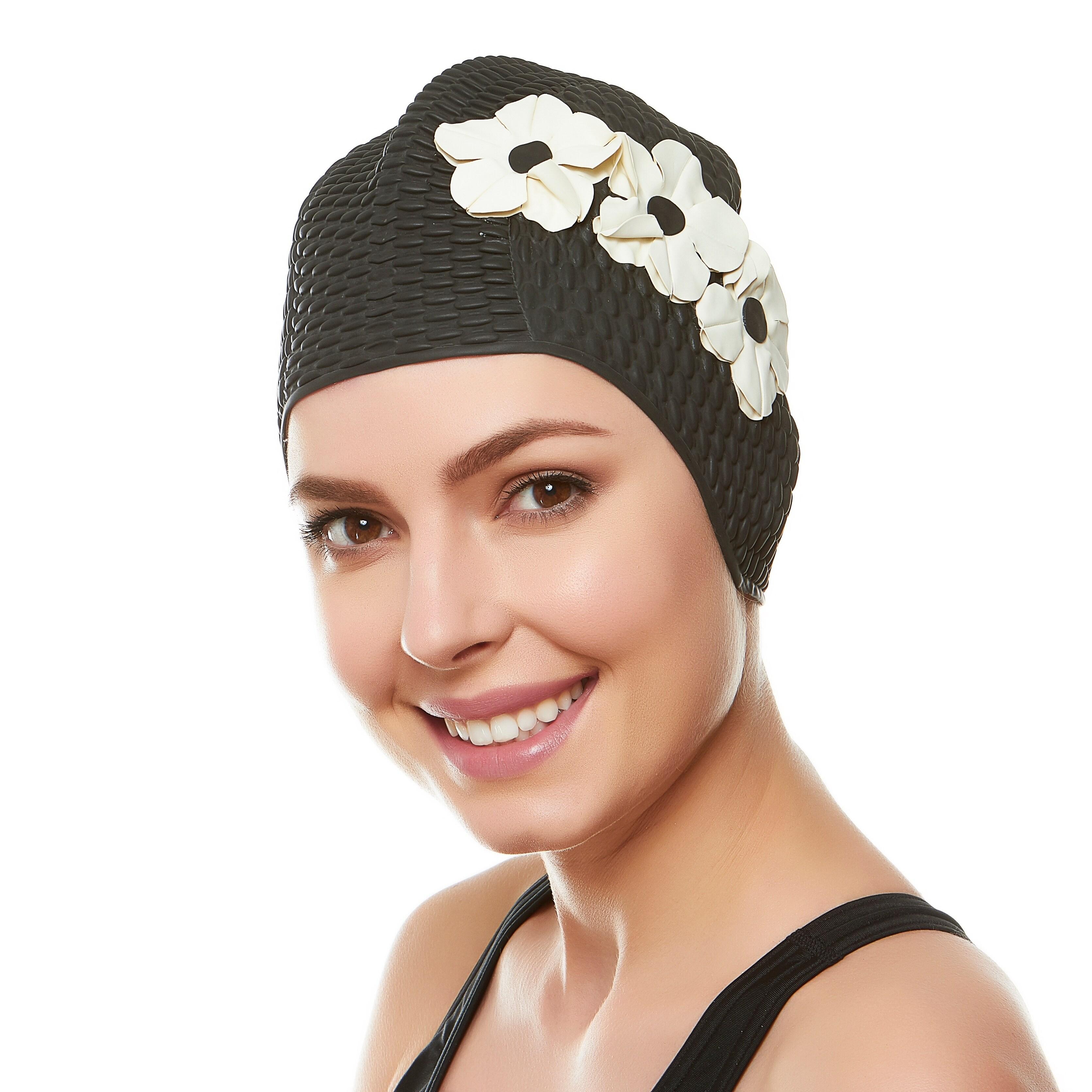 da8e724bc1b Beemo Ladies Swim Cap Latex Vintage Style Shower Bathing Waterproof  Headcovers