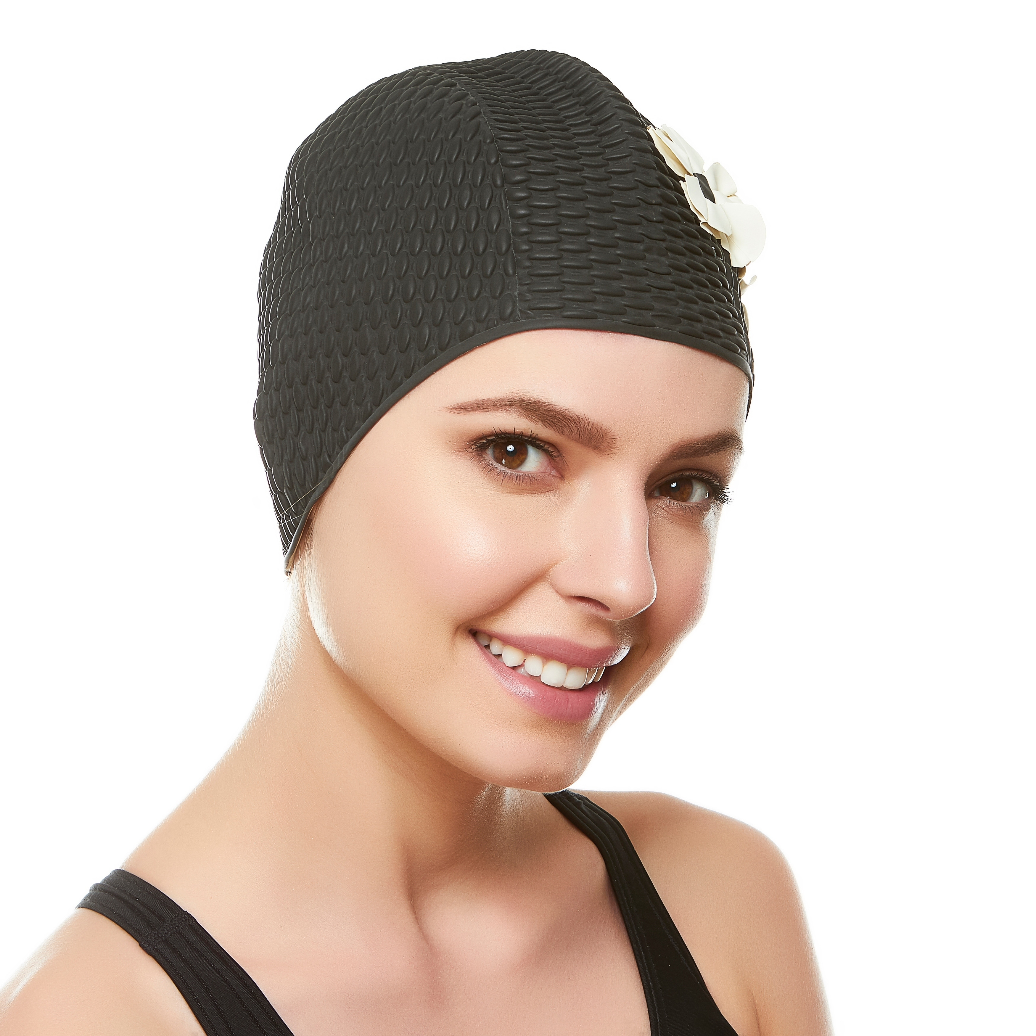 420753f29a0 Shop Beemo Ladies Swim Cap Latex Vintage Style Shower Bathing Waterproof  Headcovers - Free Shipping On Orders Over  45 - Overstock - 23119281