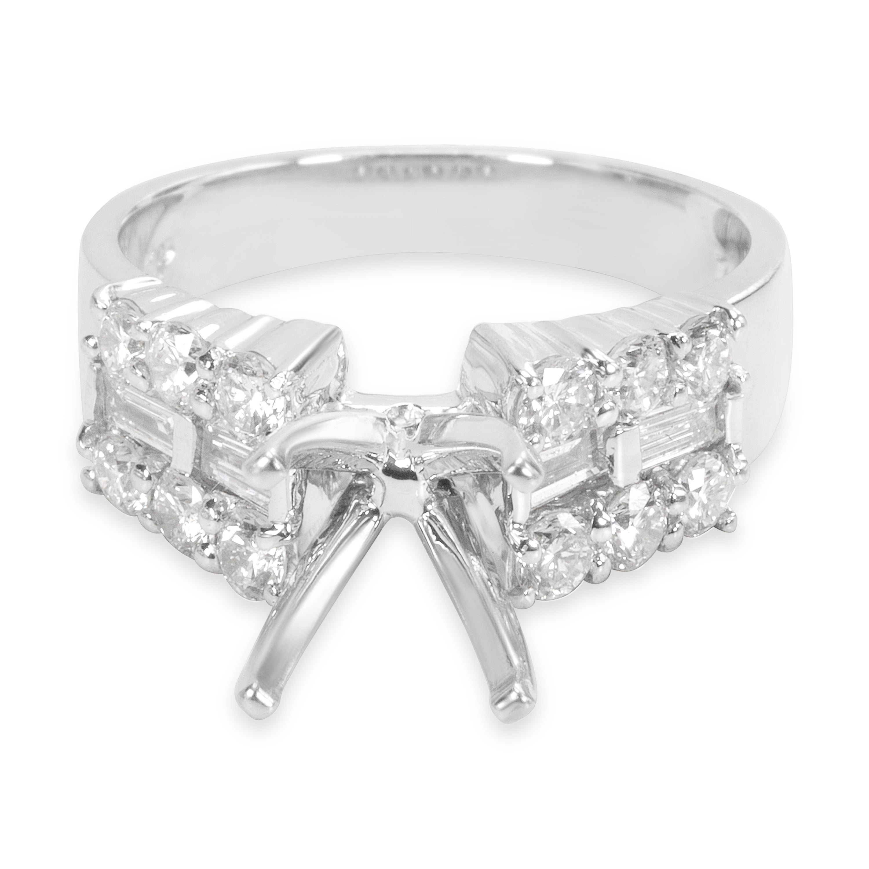 Pre Owned Diamond Engagement Ring Setting In 18kt White Gold 1 00 Ctw Free Shipping Today 23122408