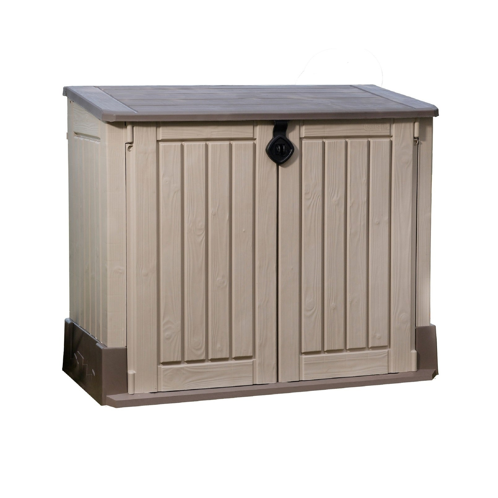 Attirant Shop Keter Store It Out MIDI Outdoor Plastic Resin Horizontal Storage Shed    Free Shipping Today   Overstock.com   23128238
