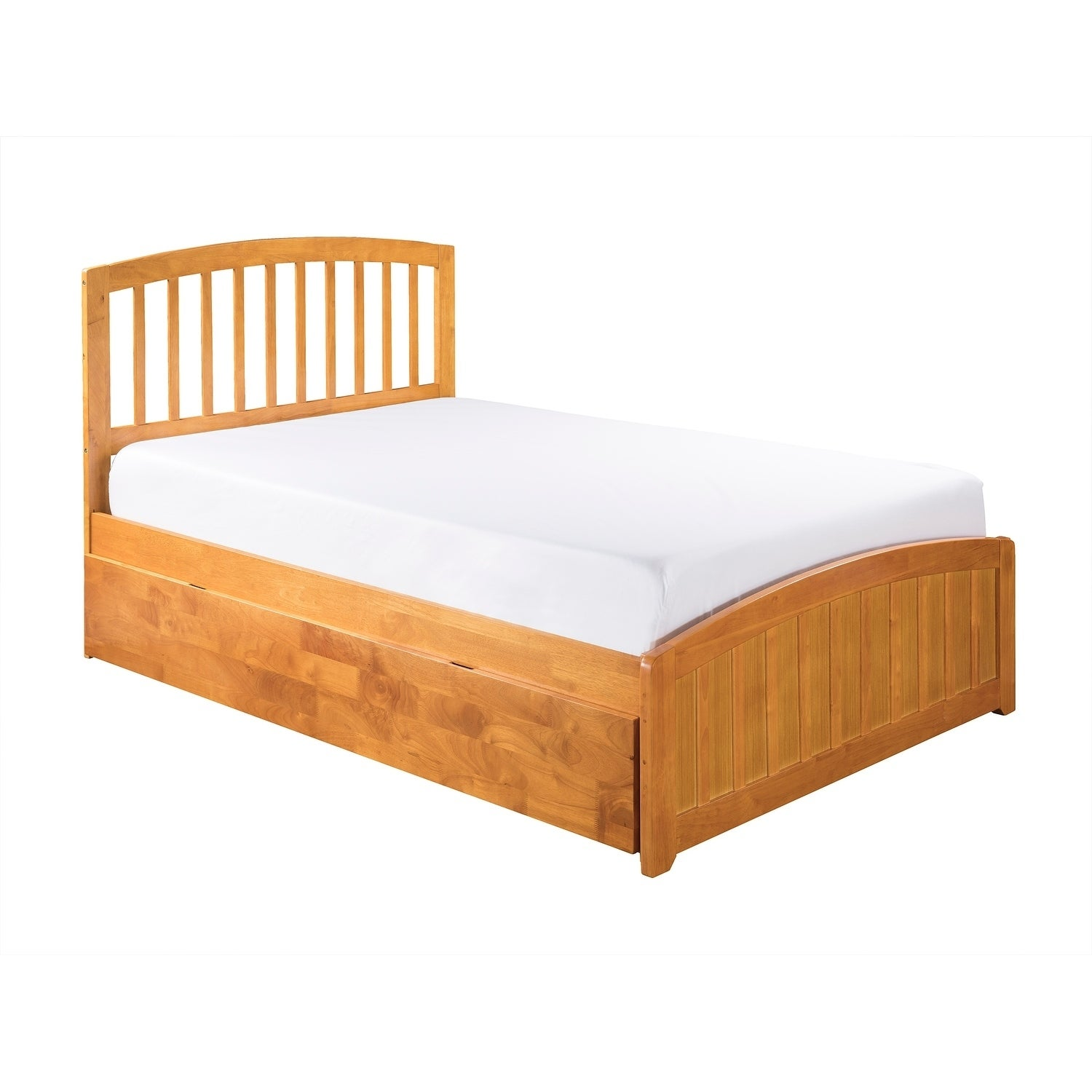 0fb9d081715ca Shop Richmond Full Platform Bed with Matching Foot Board with Twin Size  Urban Trundle Bed in Caramel - On Sale - Free Shipping Today - Overstock -  23129813