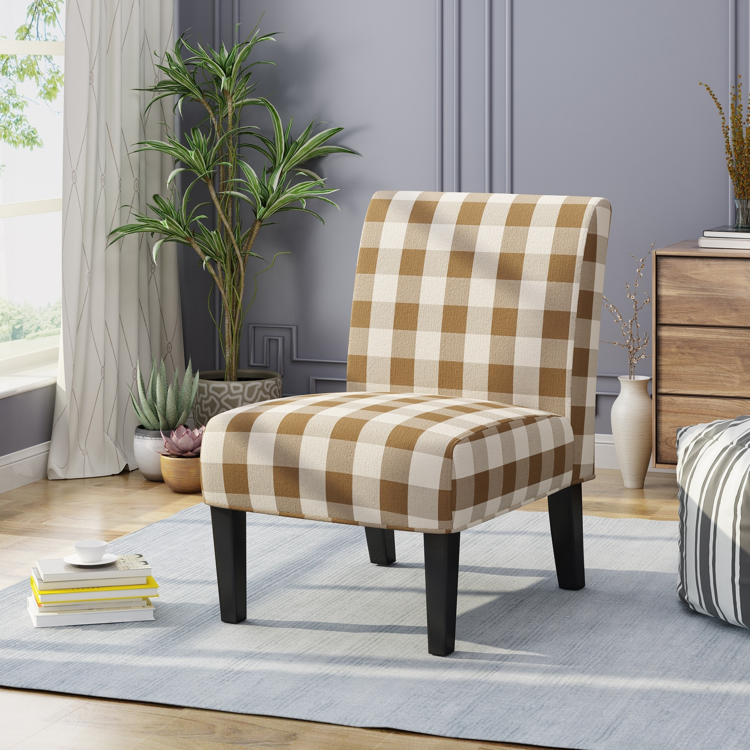 Shop kassi traditional upholstered farmhouse accent chair by by christopher knight home free shipping today overstock com 23130490
