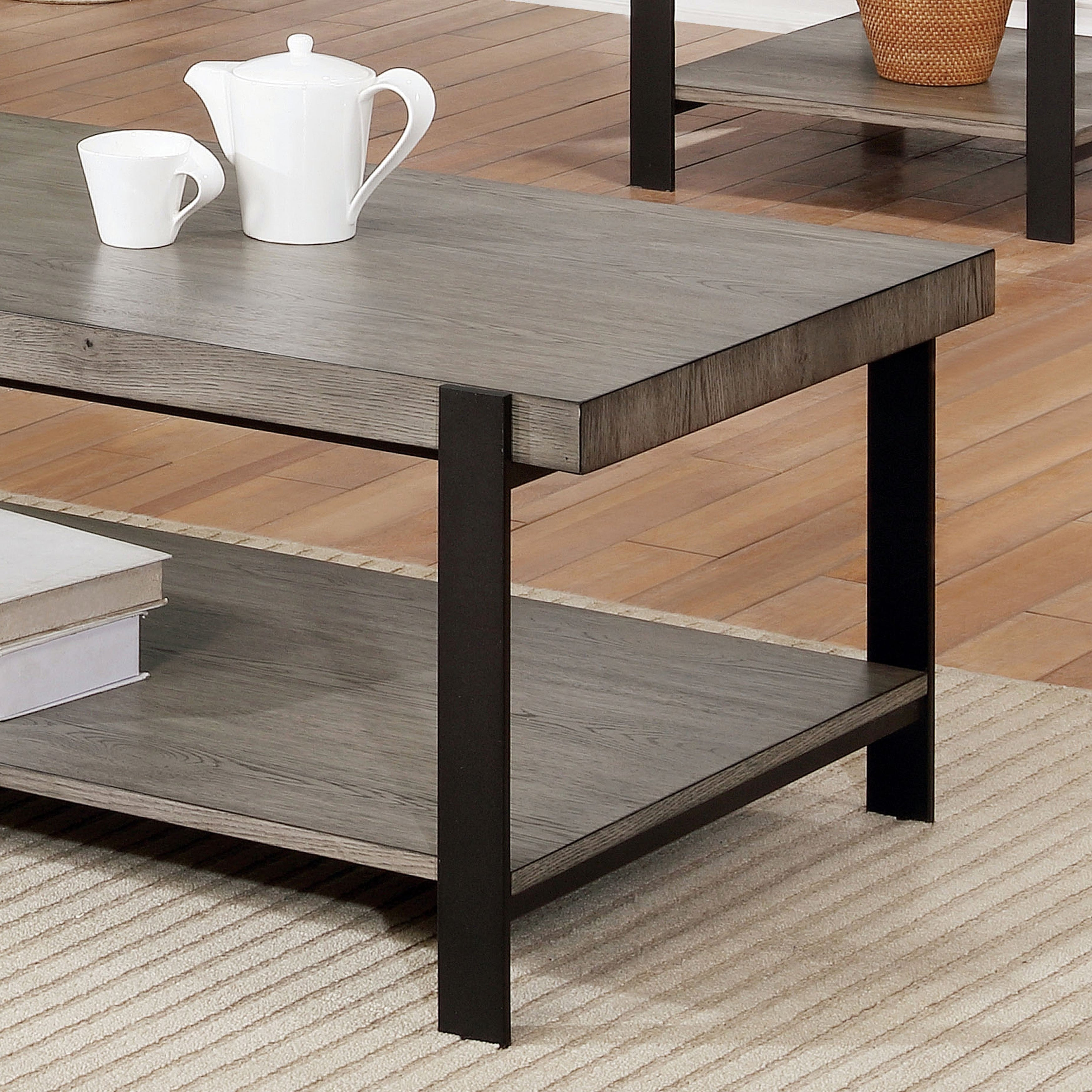 a7d0b9c655f Shop Furniture of America Blake Contemporary Grey Wash Coffee Table - On  Sale - Free Shipping Today - Overstock - 23136339