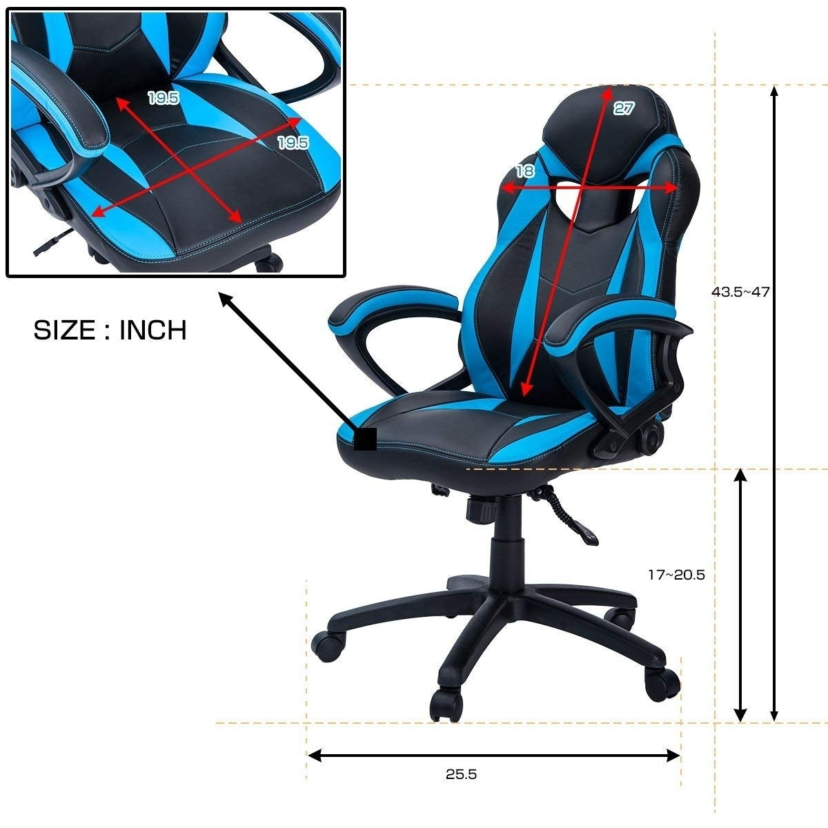 Shop Merax Ergonomic Racing Style Gaming Chair For Home And Office