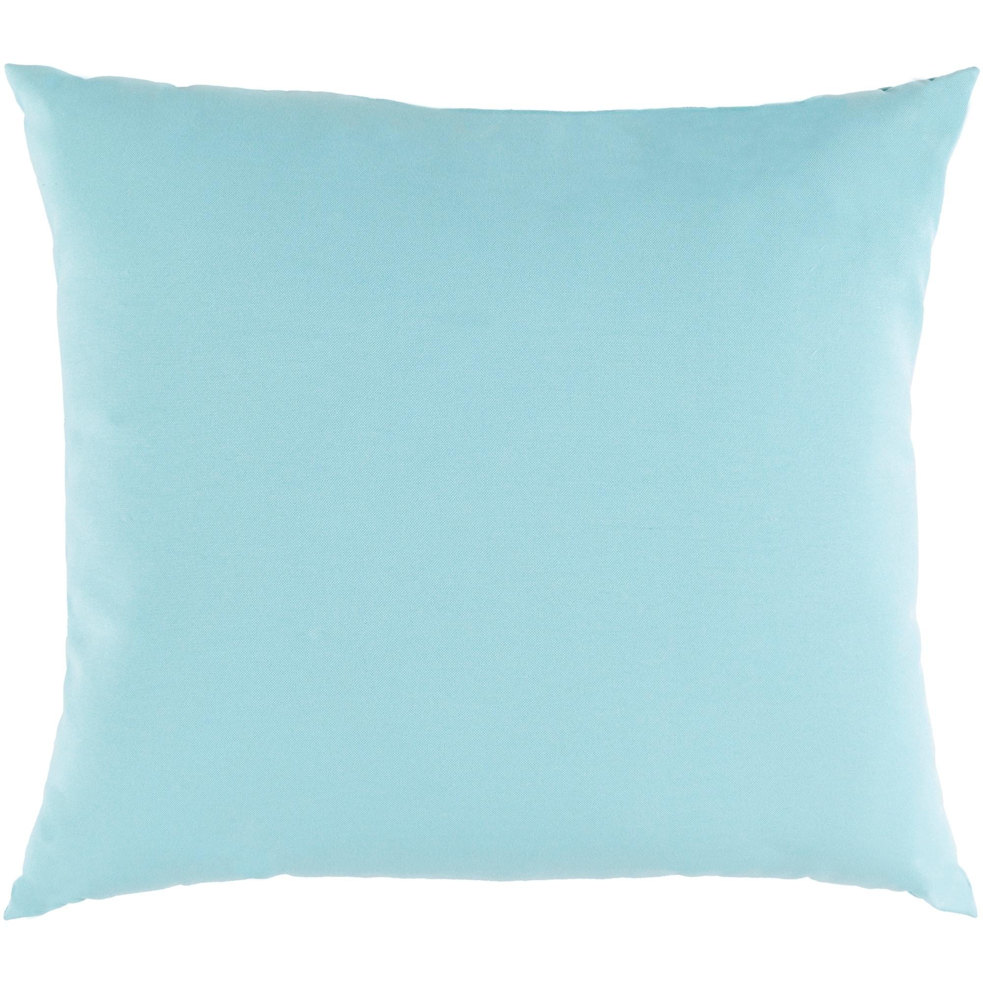 Shop Miguel Light Blue Solid Indoor Outdoor Throw Pillow 16 X 16