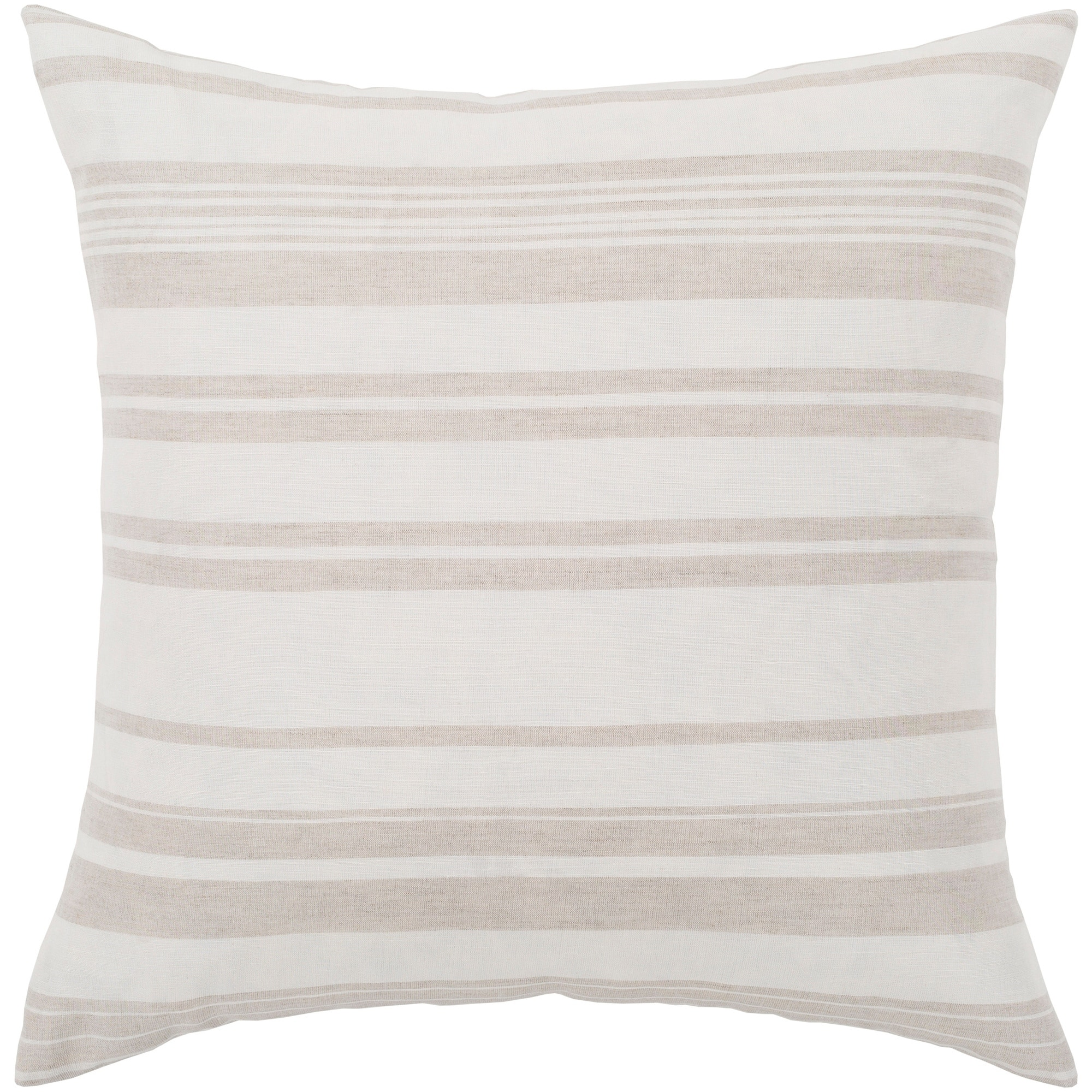 Shop Lawson Ivory Beige Striped Throw Pillow Cover 20 X 20